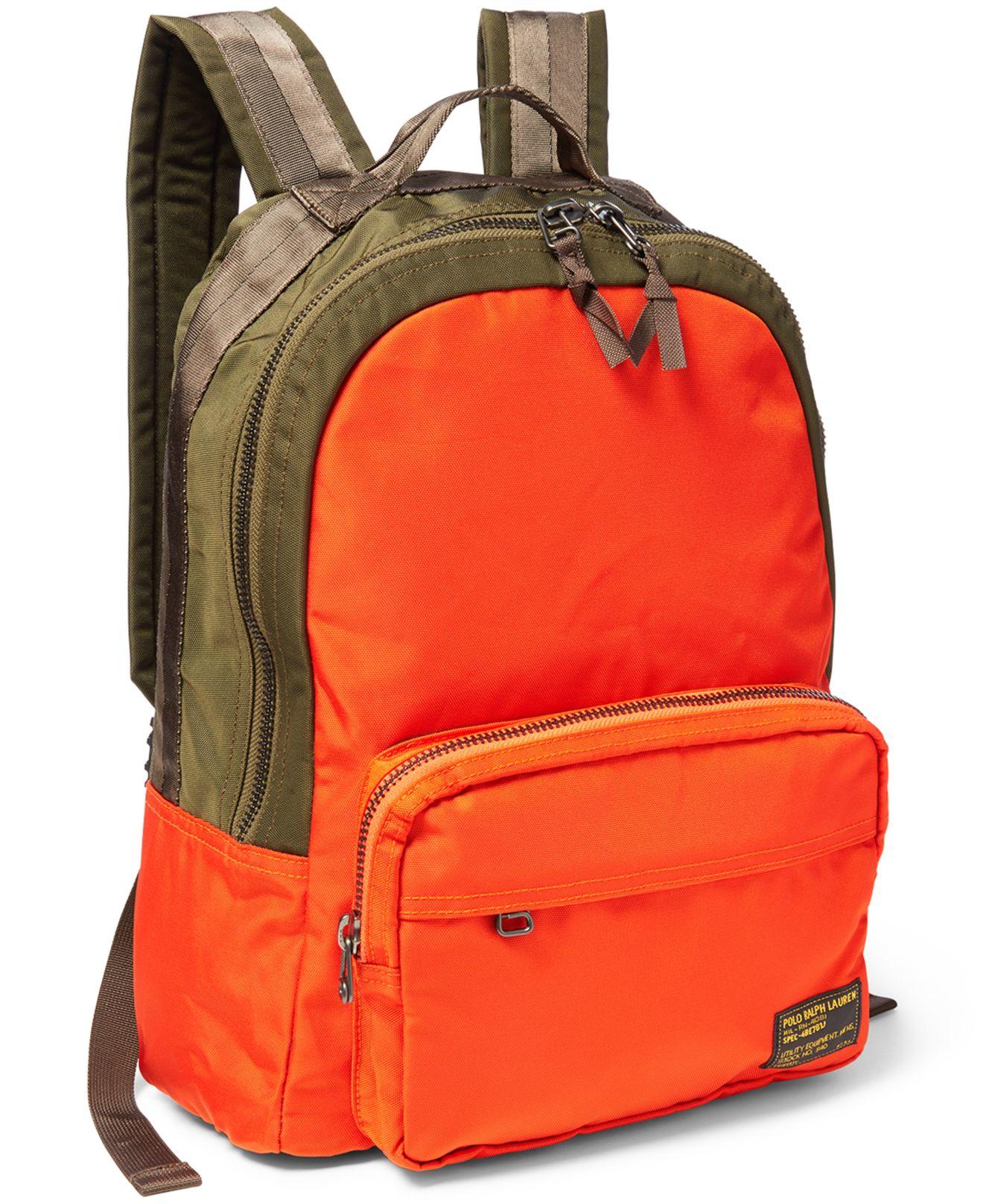 52d281ecd13 Lyst - Polo Ralph Lauren Camo-print Military Backpack in Orange for Men