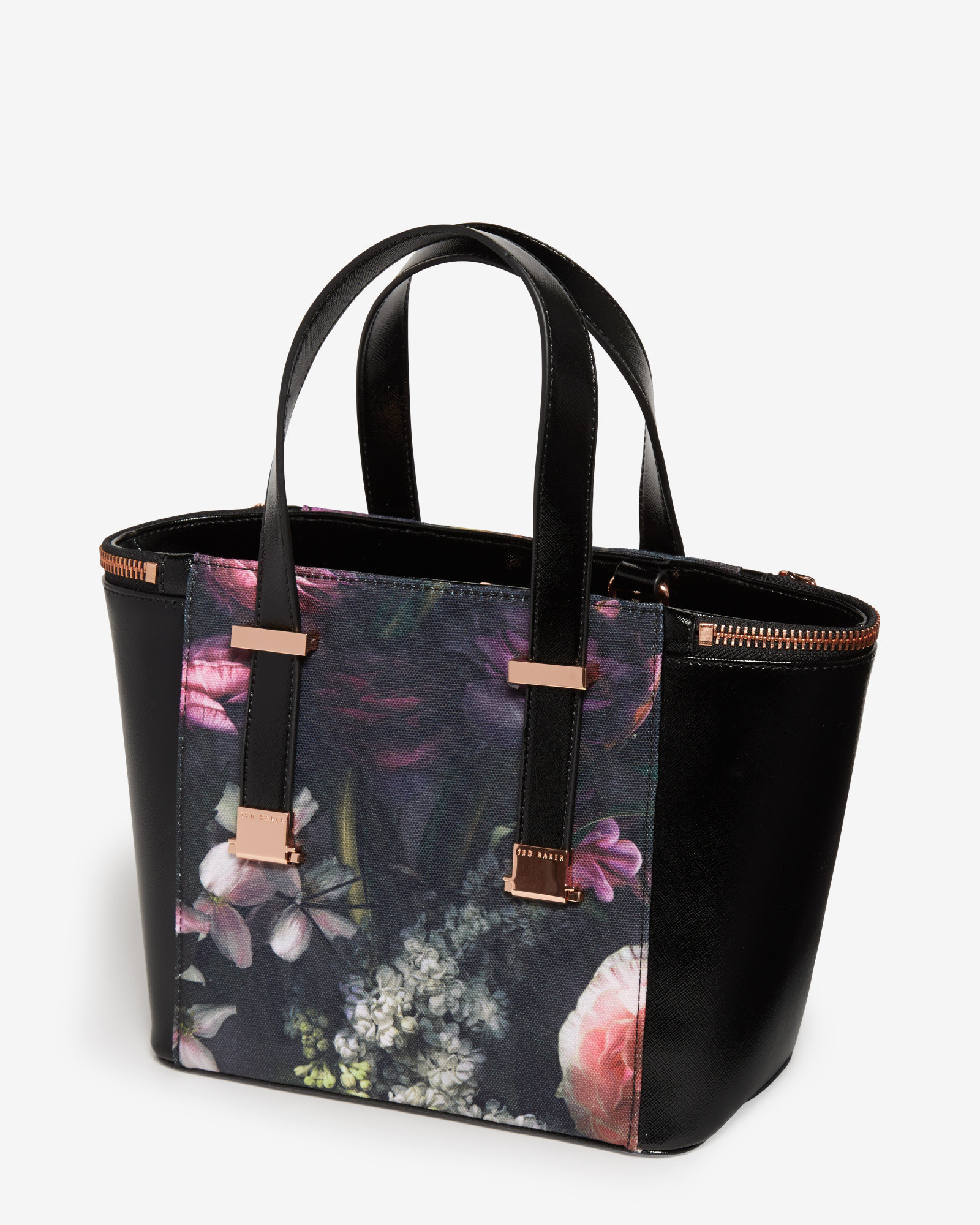 8cf9653a575 Ted Baker Cicilia Floral-Print Tote in Black - Lyst