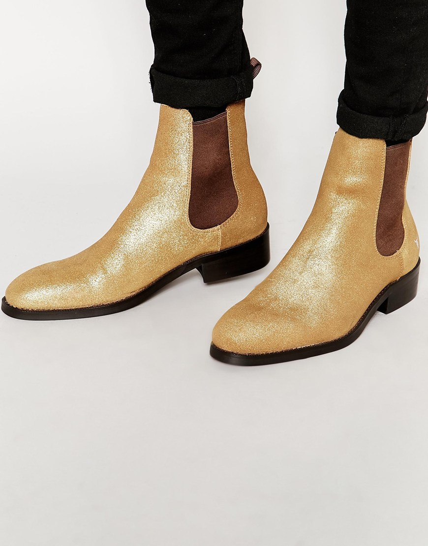 Windsor Smith Knottingham Chelsea Boots In Metallic For