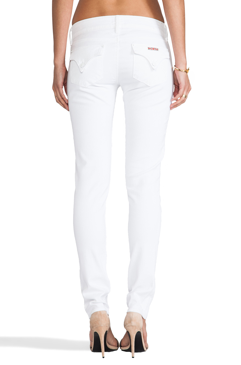 Hudson jeans Collin Skinny in White | Lyst