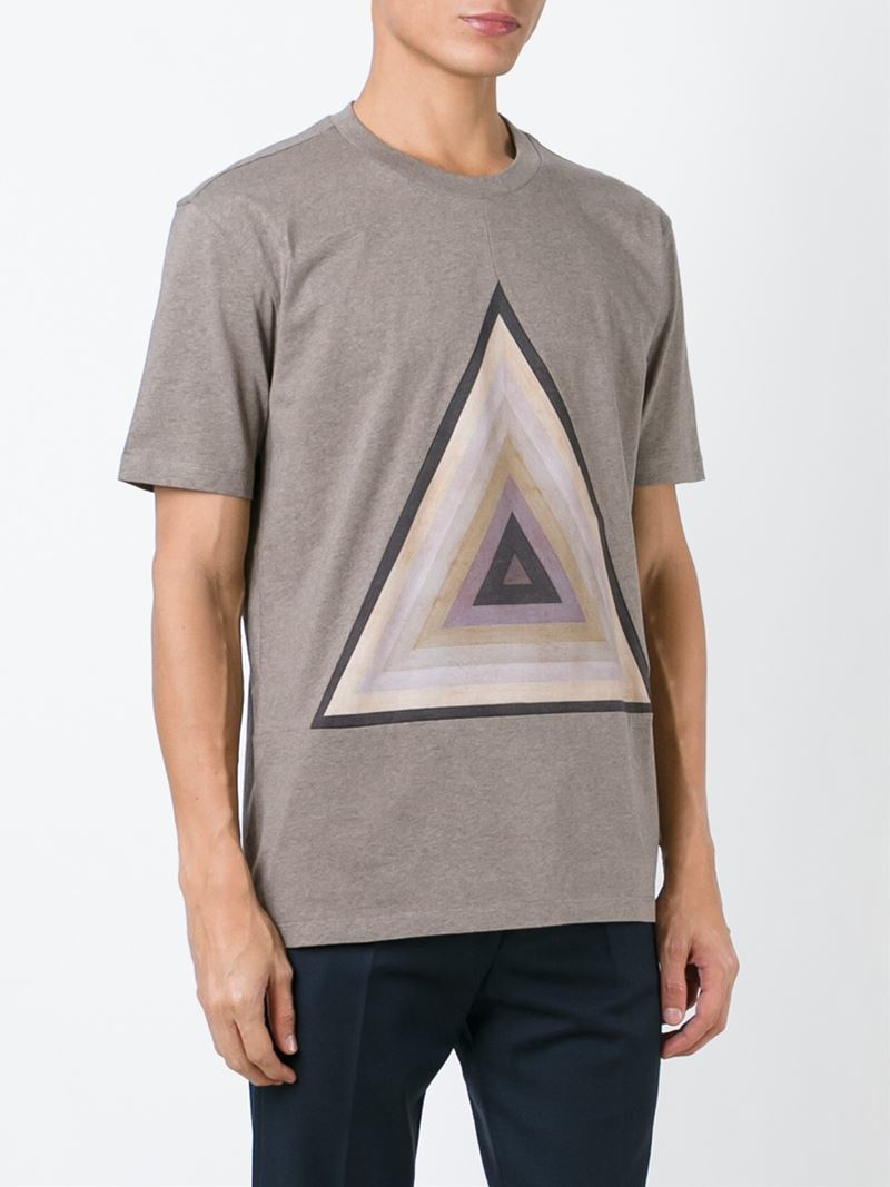 Paul smith Triangle Motif T-shirt in Brown for Men | Lyst