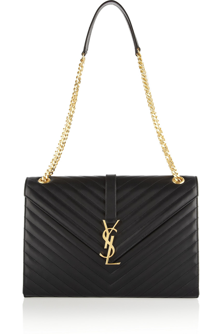 saint laurent women 39 s monogram medium shoulder bag in black lyst. Black Bedroom Furniture Sets. Home Design Ideas