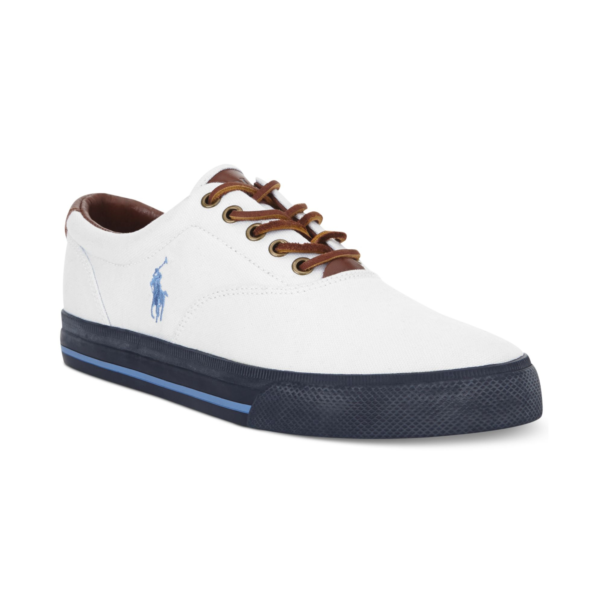 polo ralph lauren polo vaughn sneakers in white for men lyst. Black Bedroom Furniture Sets. Home Design Ideas