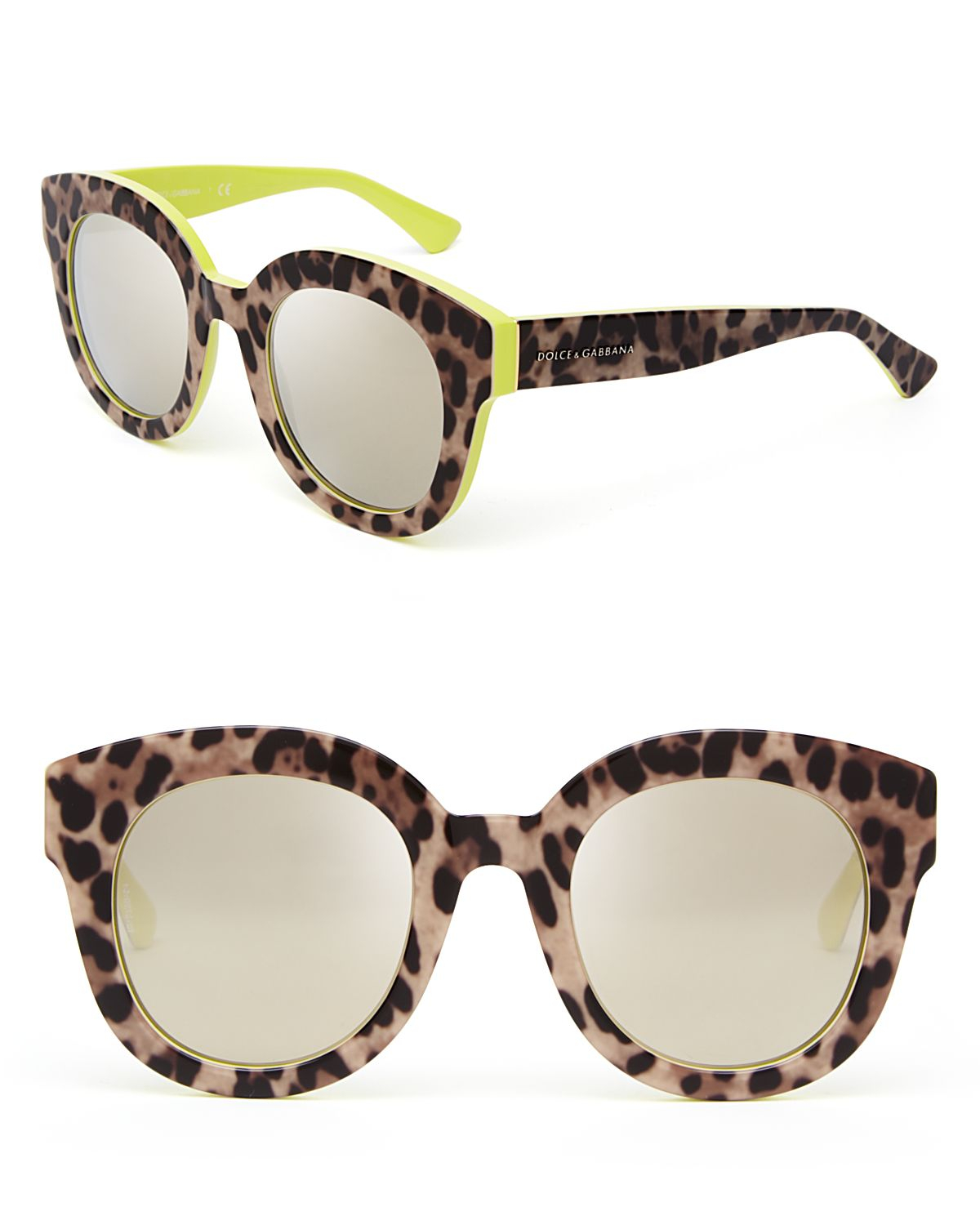 Oversized Mirrored Sunglasses  dolce gabbana dolce gabbana animalier mirrored oversized round