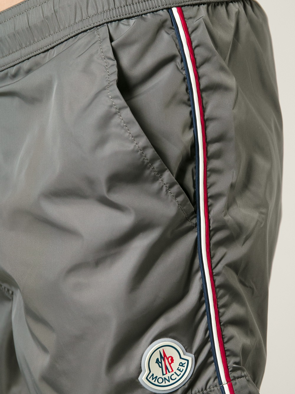white moncler swim shorts