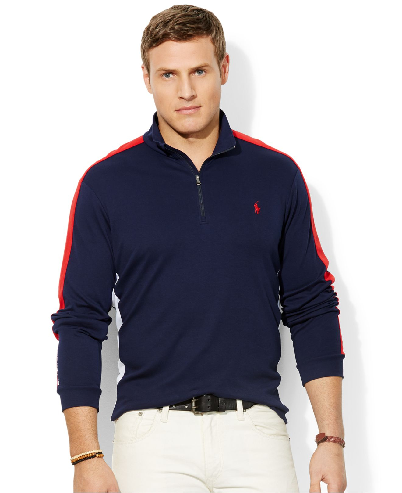 polo ralph lauren big and tall color blocked pima pullover. Black Bedroom Furniture Sets. Home Design Ideas