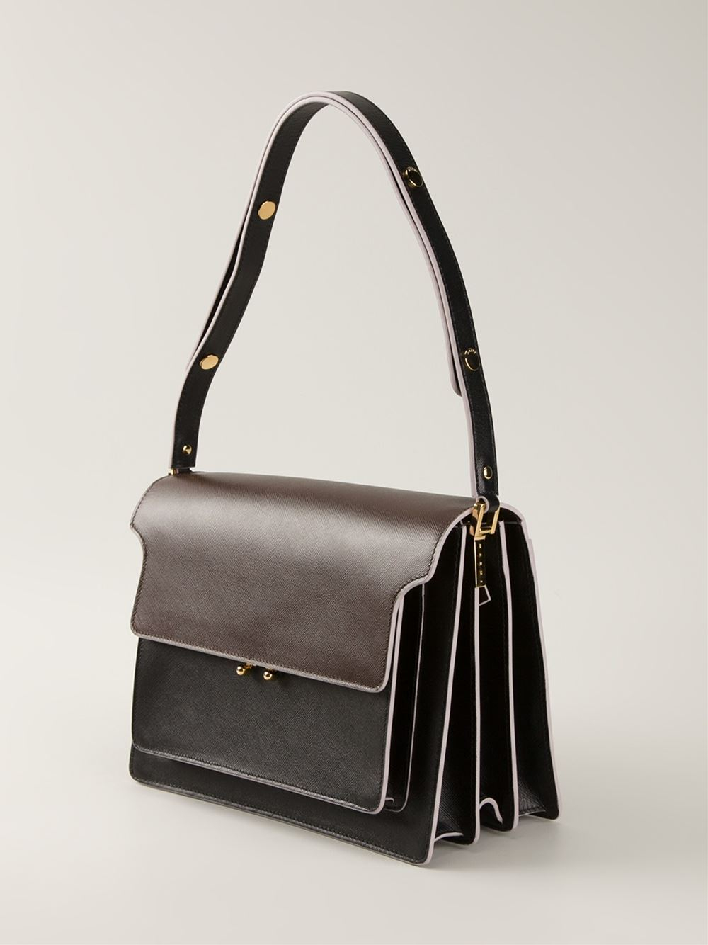 Marni Trunk Shoulder Bag In Brown Lyst