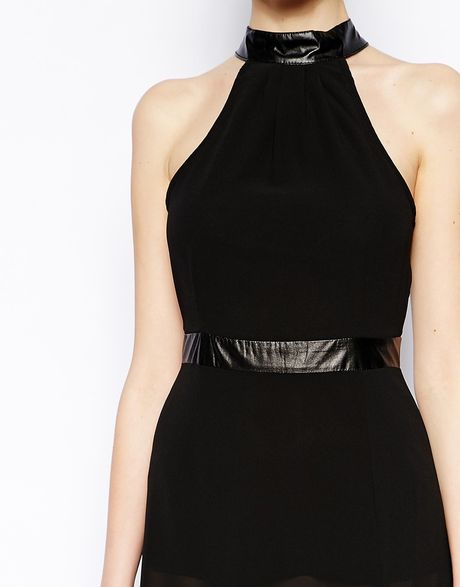 jarlo juliet maxi dress with sheer skirt in black lyst