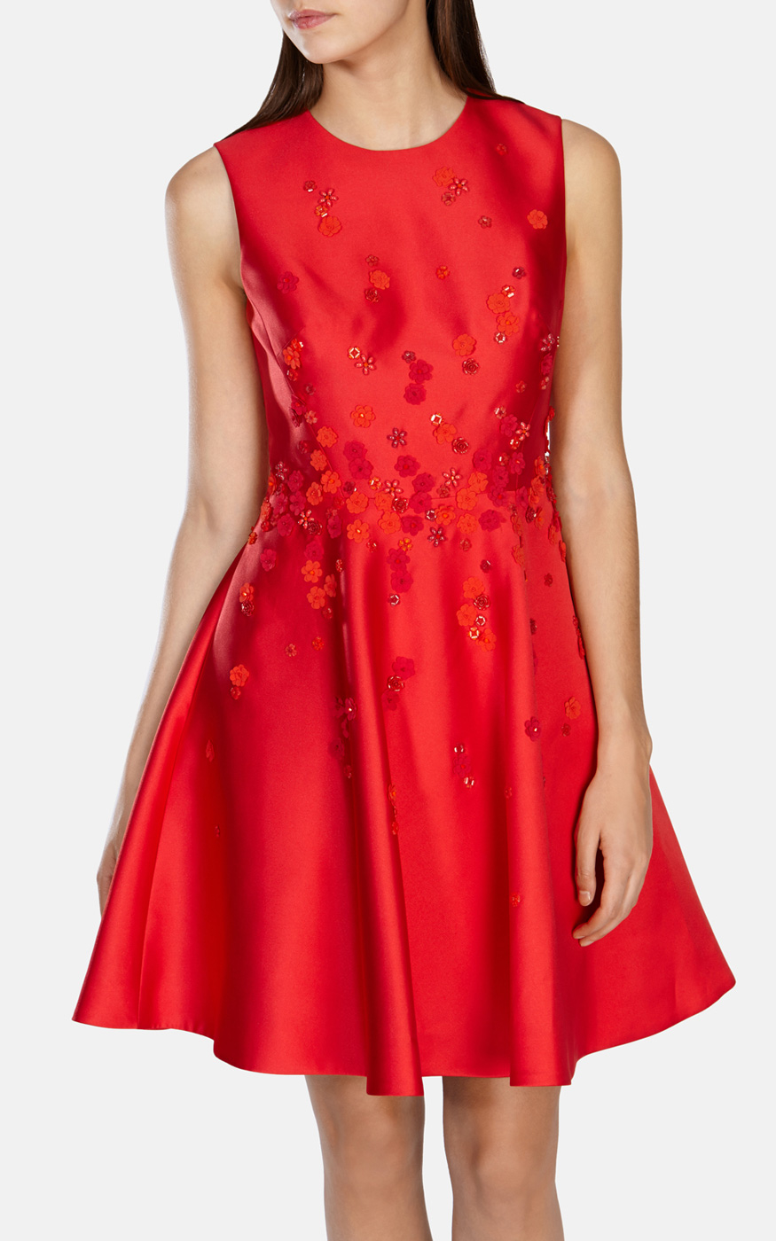 Karen millen red dress long