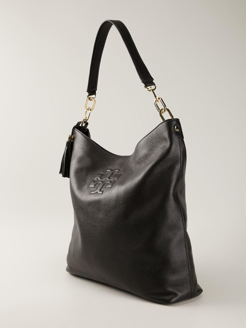 1456c57f0efb Lyst - Tory Burch  Thea Hobo  Bag in Black