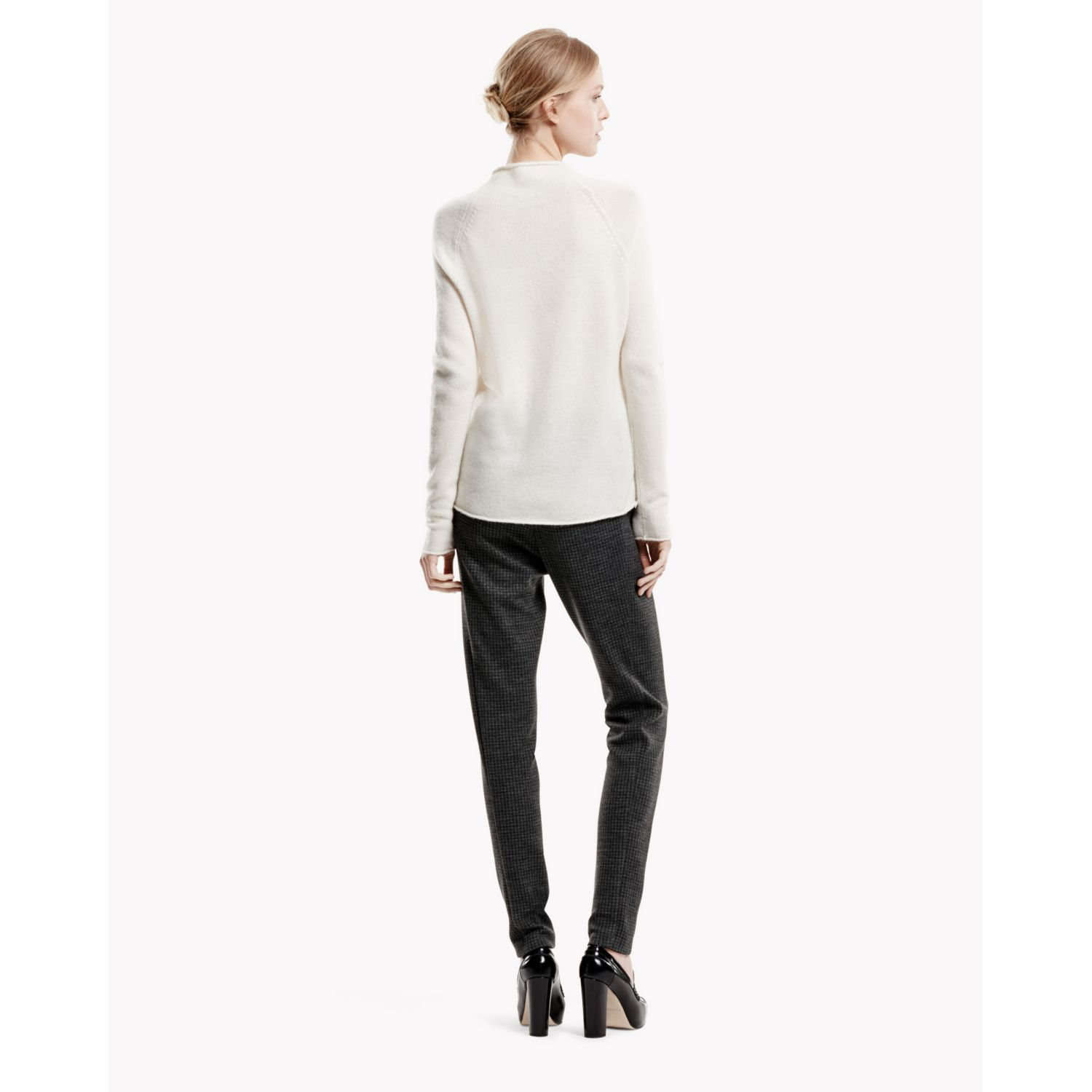 Lyst Theory Sandrina B Sweater In Cashmere In Natural