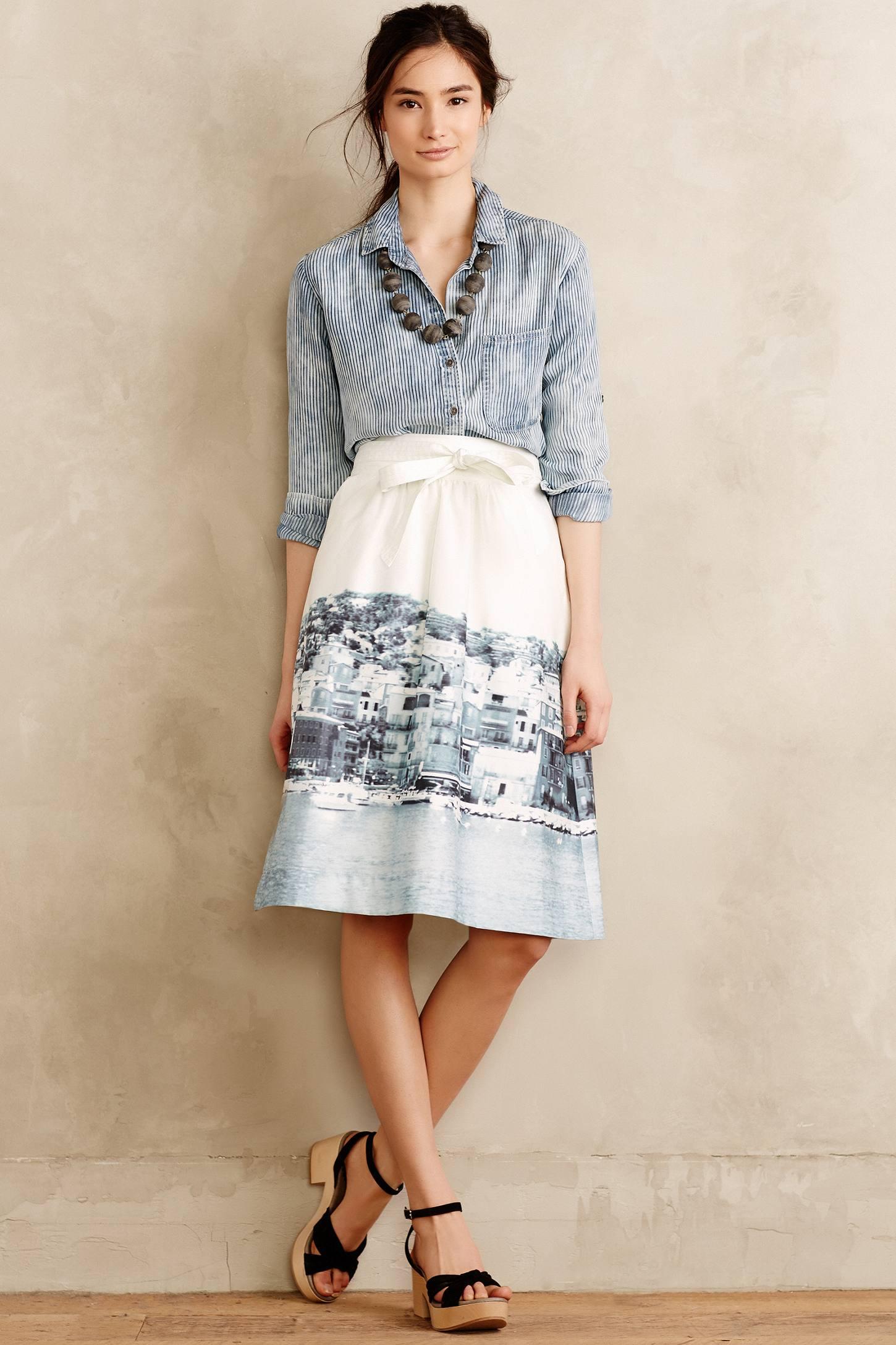 Hd in paris Harborside Wrap Skirt in Black | Lyst