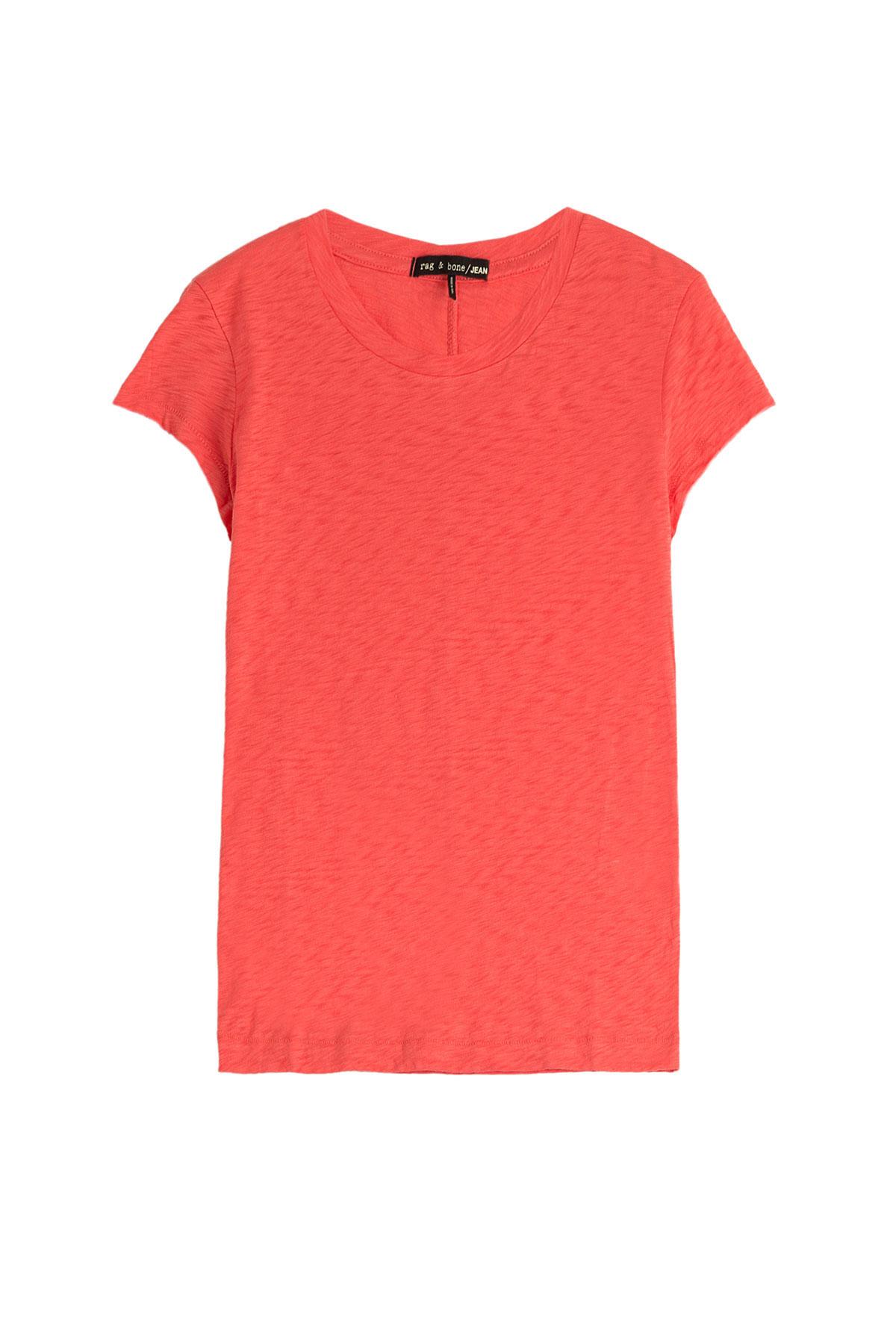 Rag Bone Cotton T Shirt Orange In Red Lyst