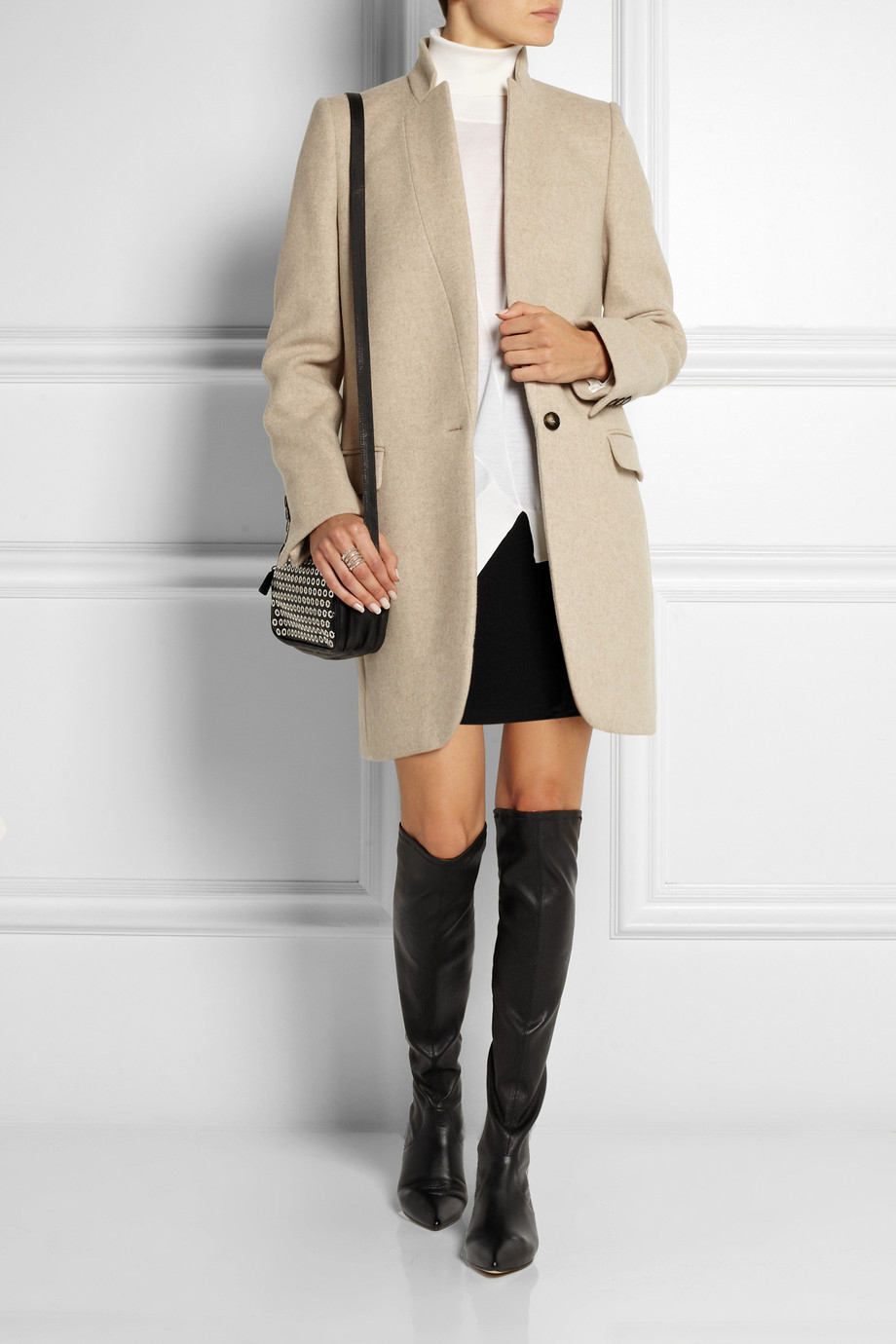 f557b59af6e Lyst - Sigerson Morrison Gan Stretch-leather Over-the-knee Boots in ...
