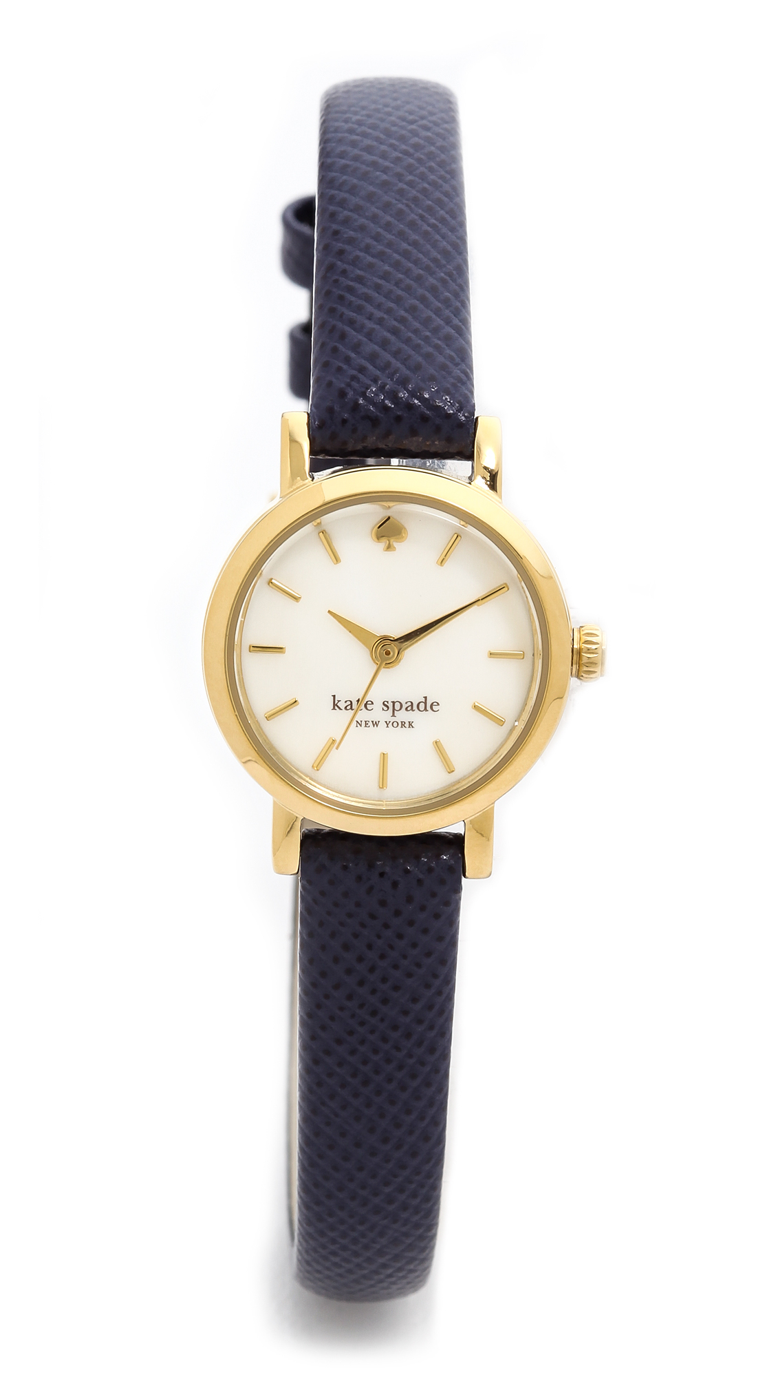 Kate spade new york Tiny Metro Watch Navy in Blue | Lyst