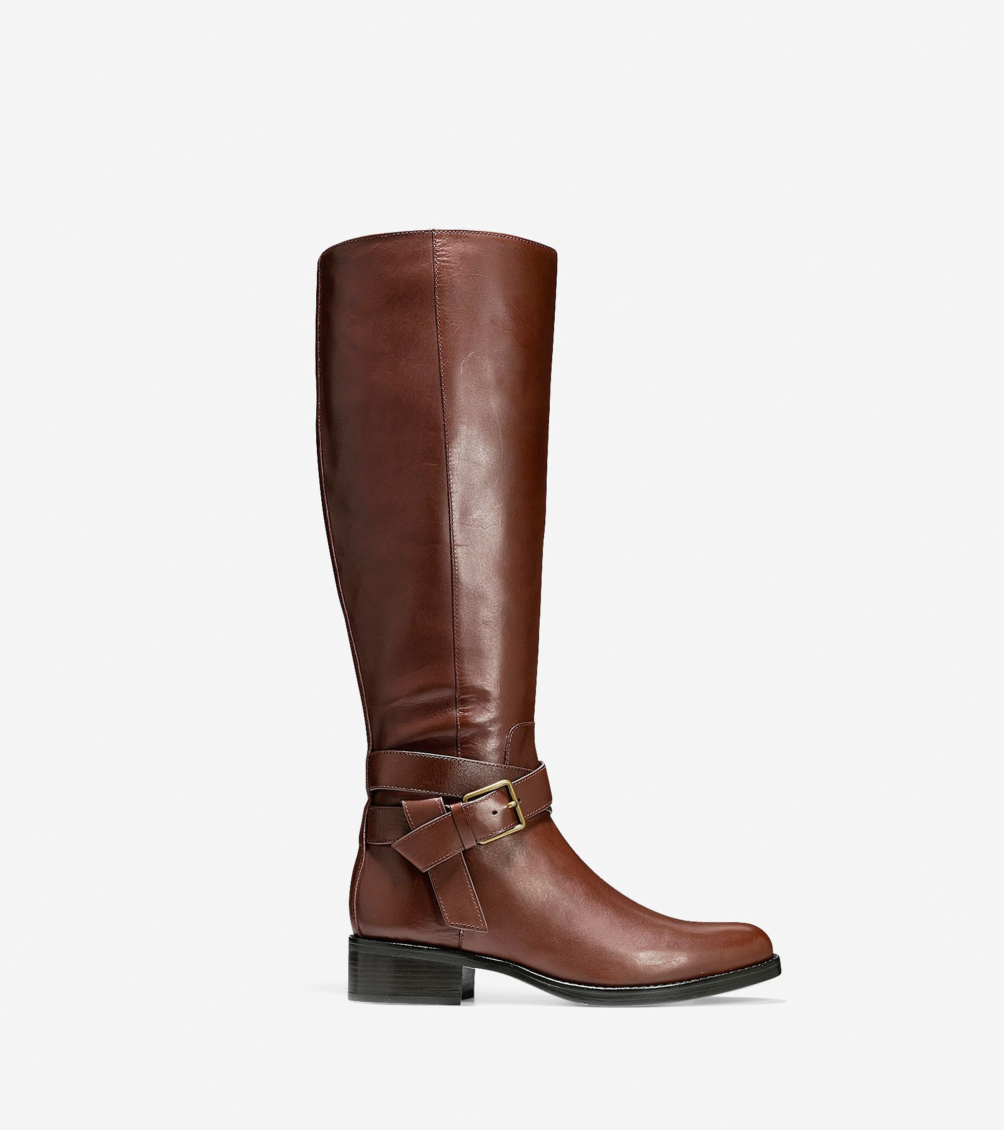 cole haan briarcliff leather knee high boots in brown lyst