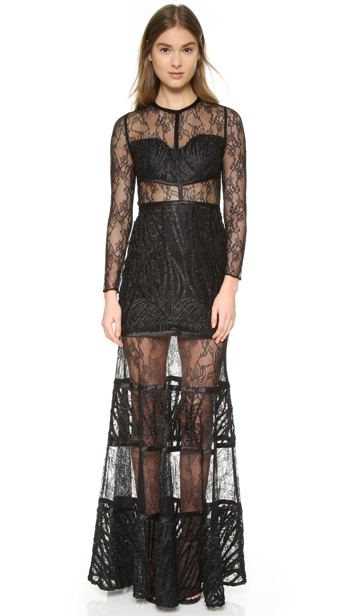 Lyst - Alexis Joelle Gown in Black