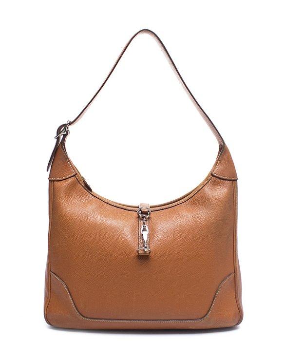 Hermès Pre-owned Black Courcheval Trim 31 Hobo Bag in ...