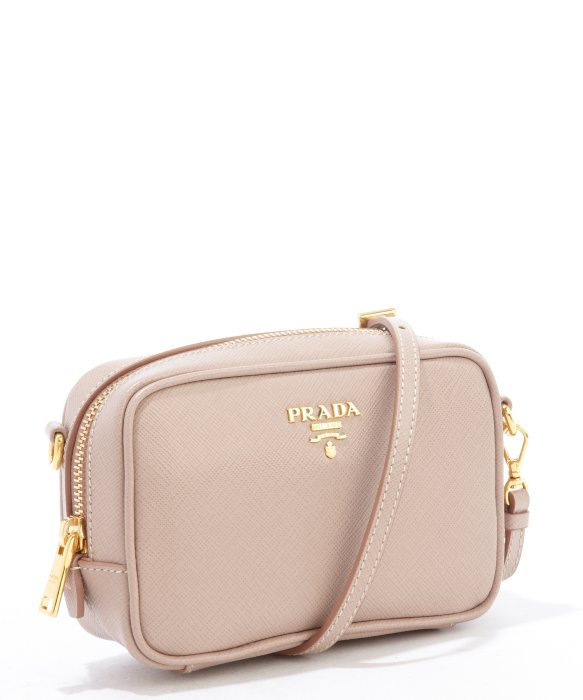 c792e7ccc8 inexpensive authentic prada black nylon crossbody bag 0313f 7920d  closeout lyst  prada dusty rose saffiano leather mini crossbody bag in pink d52cd f3a68