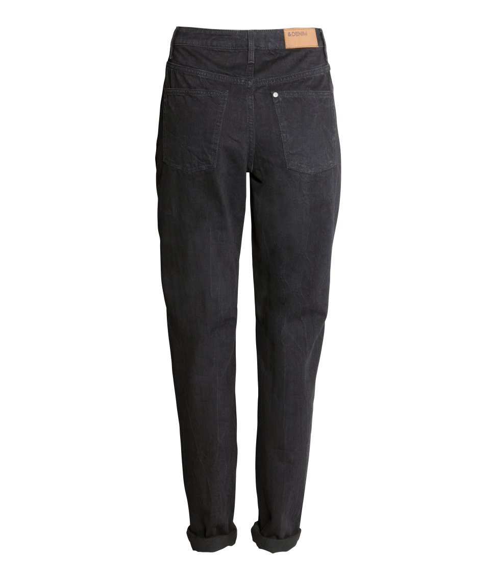 Lyst H Amp M Mom Jeans In Black
