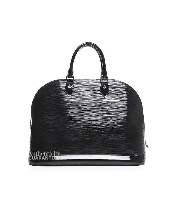 37a25c98fdd2 Lyst - Louis Vuitton Pre-owned Black Epi Electric Alma Gm Bag in Black