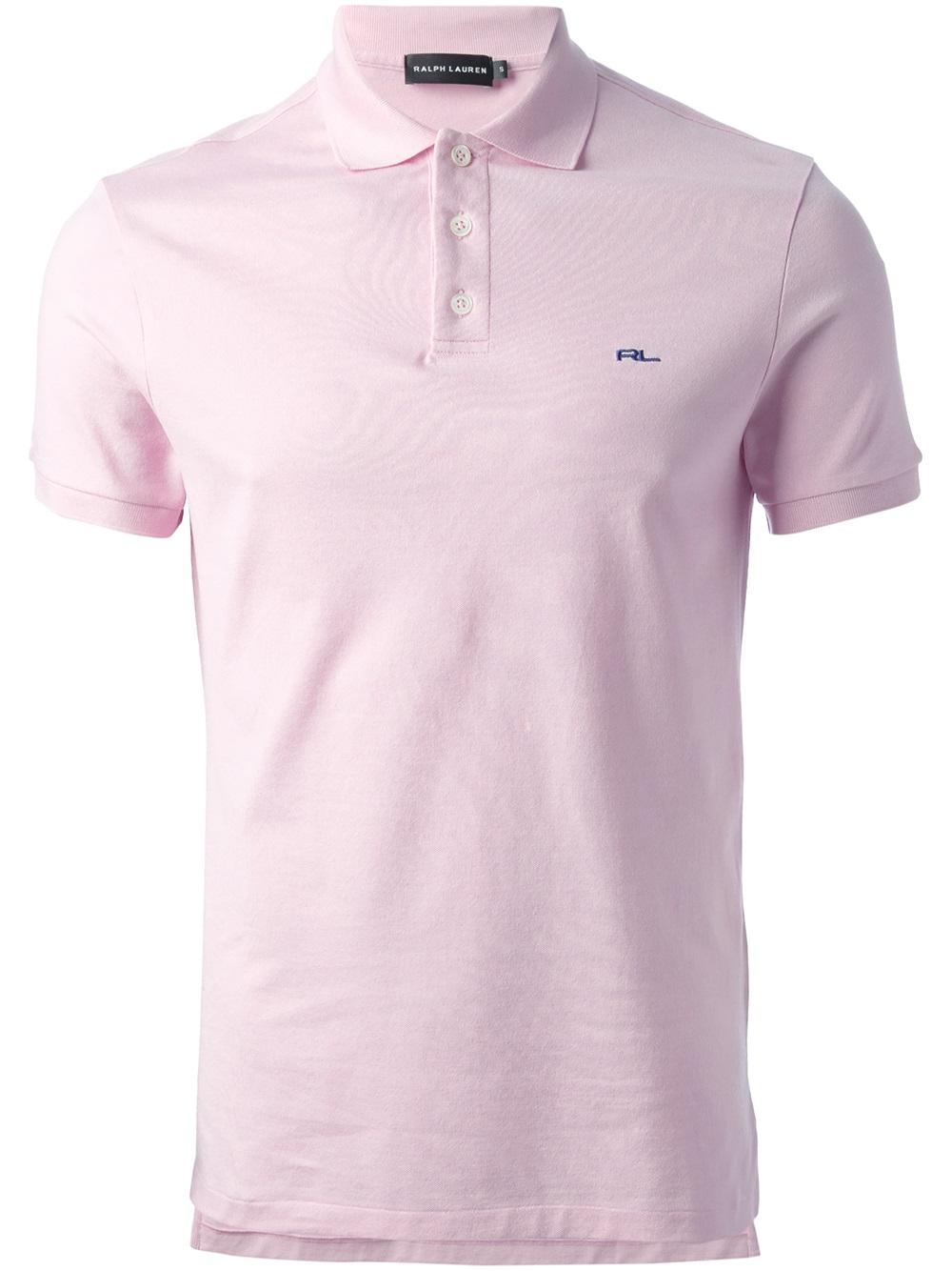 Ralph lauren black label logo polo shirt in pink for men for Ralph lauren black label polo shirt