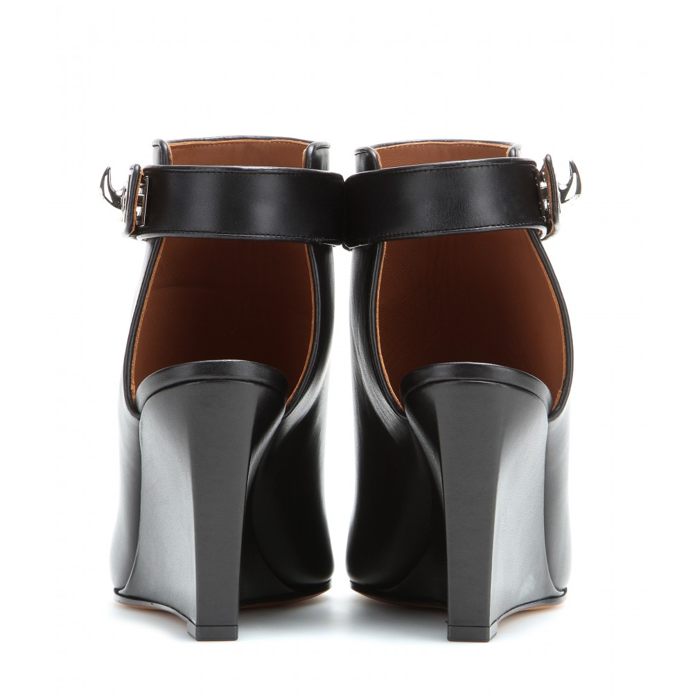 givenchy leather wedge sandals in black lyst