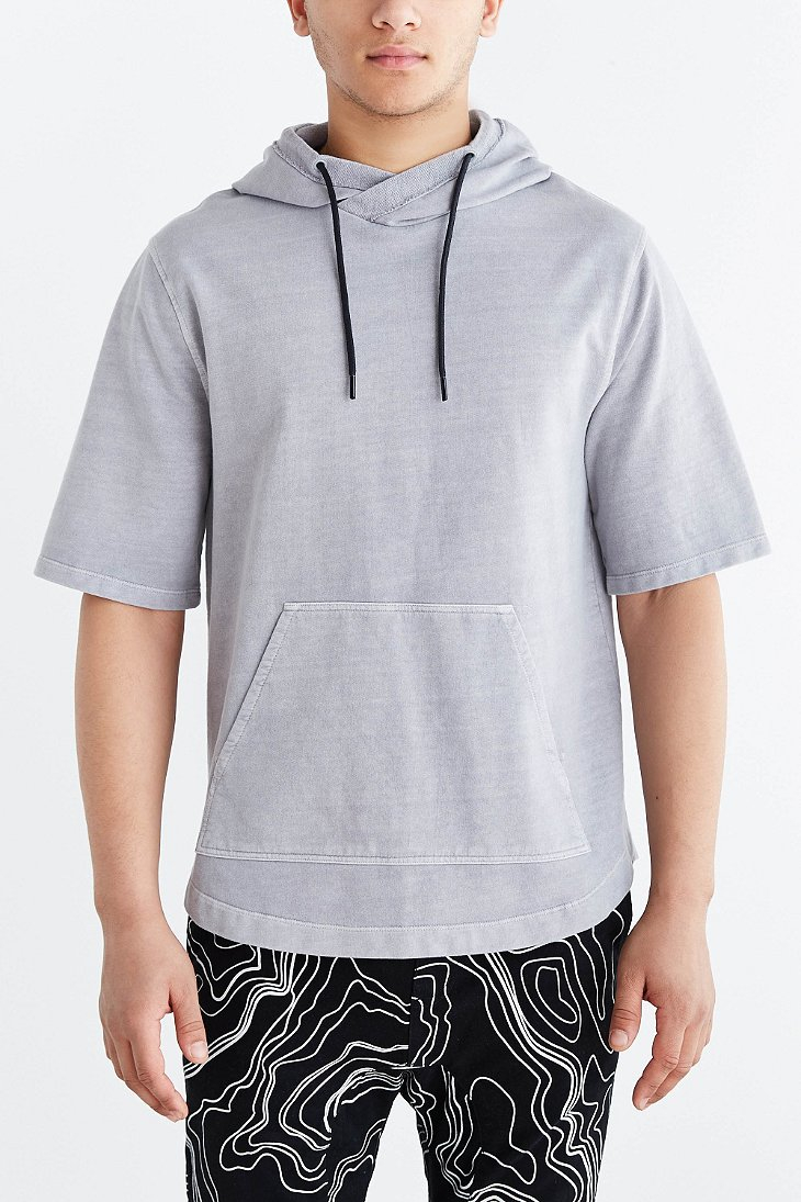 Lyst - Feathers Short-sleeve Pullover Hooded Sweatshirt in ...
