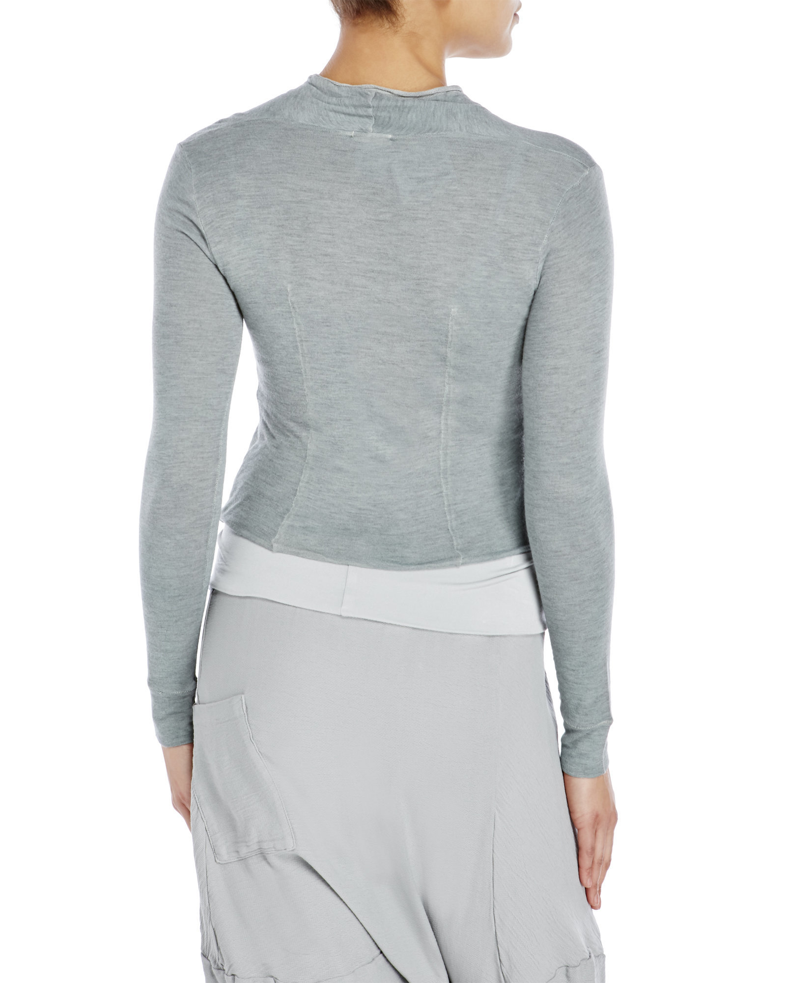 Transit Cropped Cardigan in Gray | Lyst