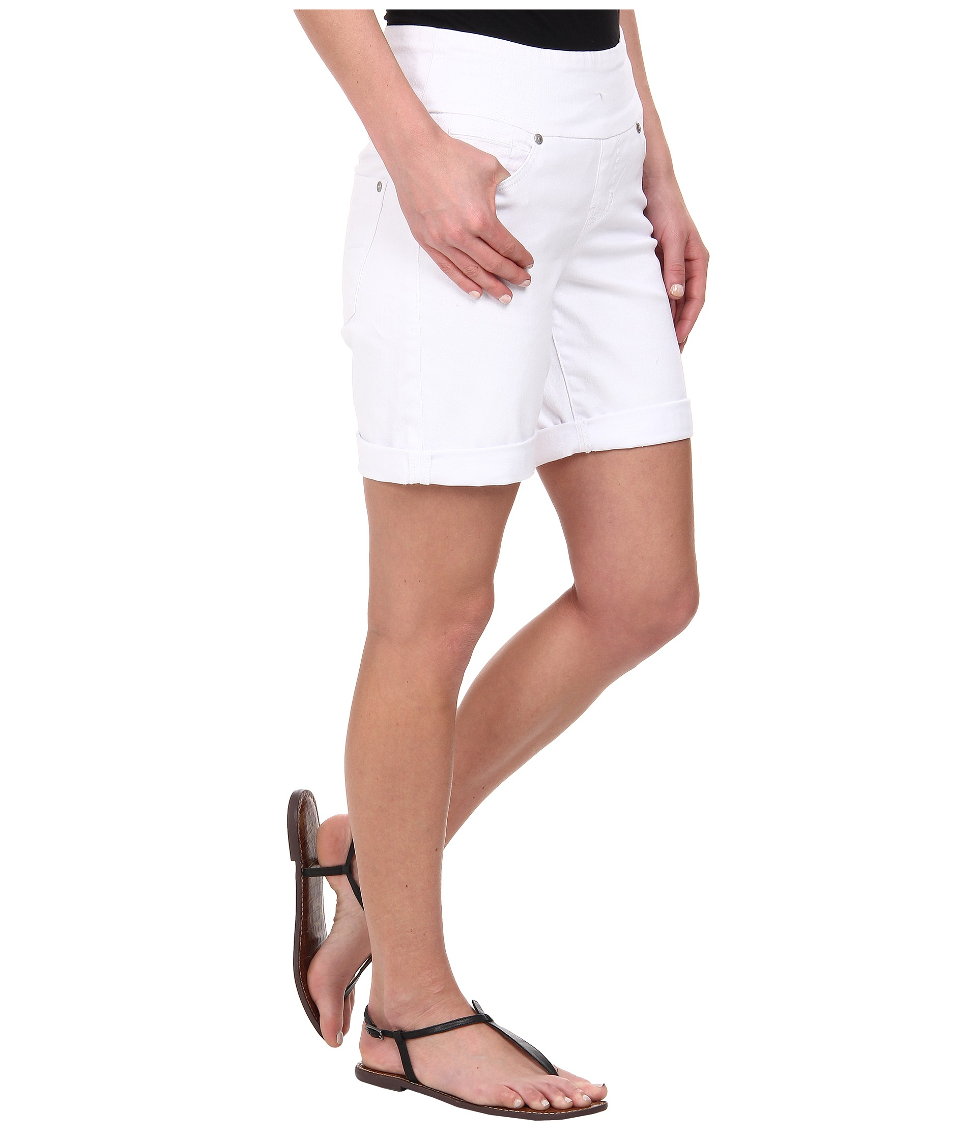 a934bf9b45b Jag Jeans Jordan Pull-on Relaxed Fit White Denim Short in White - Lyst