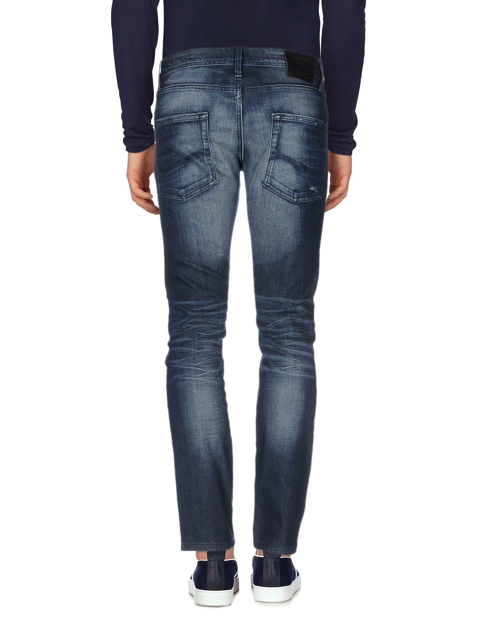 jack jones denim trousers in blue for men lyst. Black Bedroom Furniture Sets. Home Design Ideas