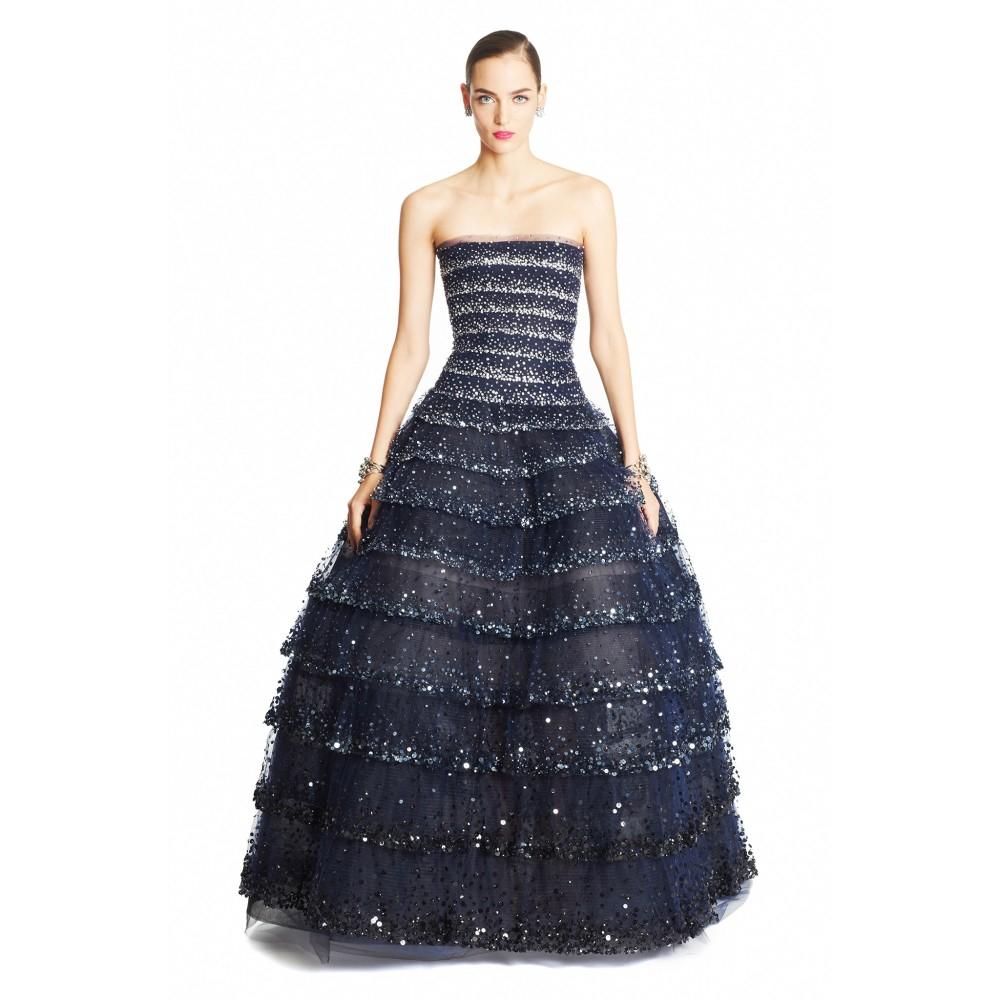 Discount Real Oscar De La Renta Ombré Crystalembellished Gown Sale