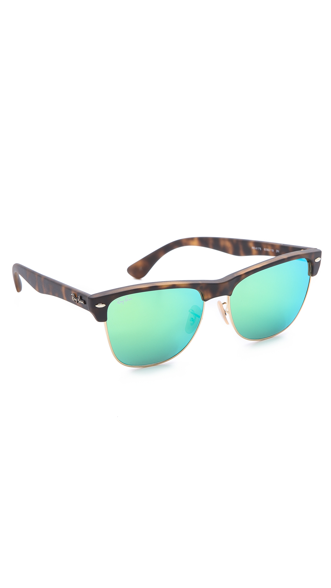 Ray Ban Oversized Clubmaster Sunglasses With Mirrored Lens