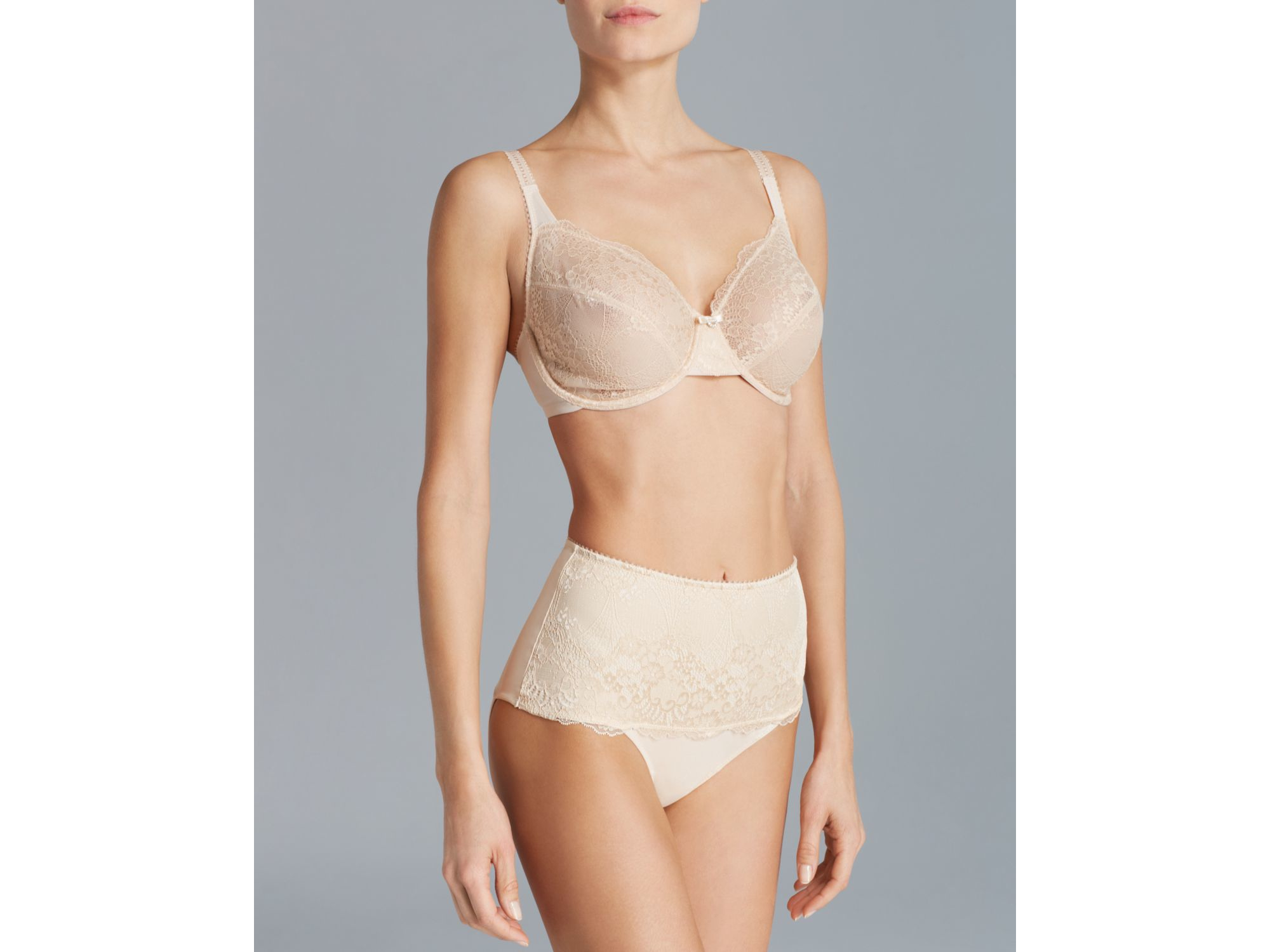 a0ff8c37e0 Le Mystere Bra - Defining Lace Unlined Underwire  1959 in Natural - Lyst