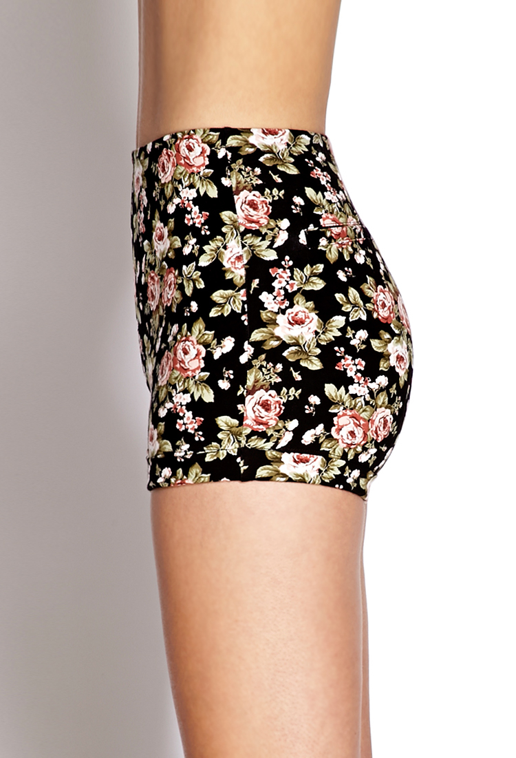 High Waisted Floral Shorts - The Else