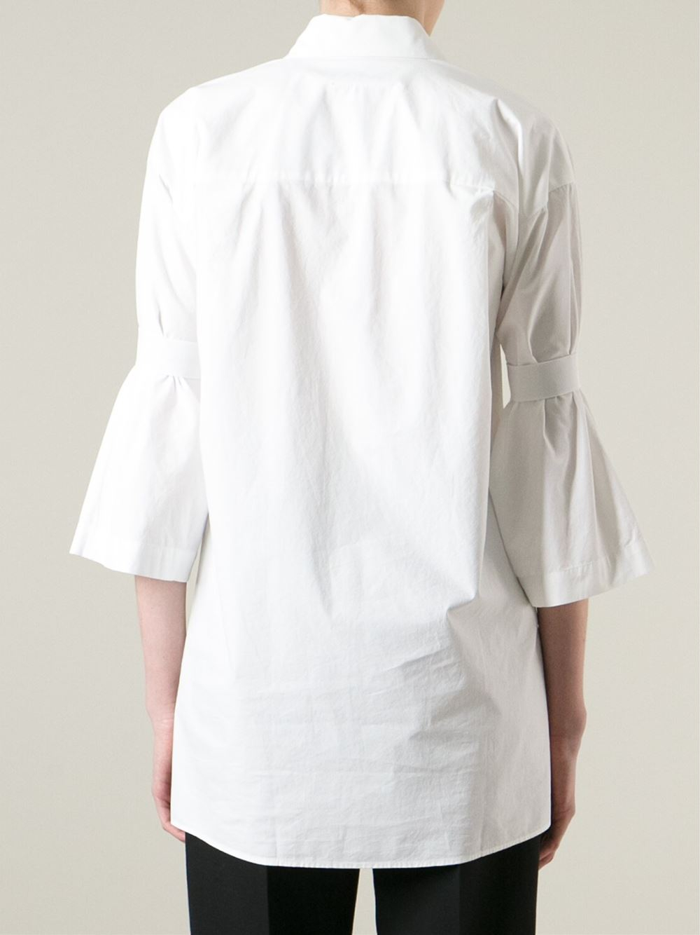 Mm6 by maison martin margiela oversized three quarter for Three quarter length shirt