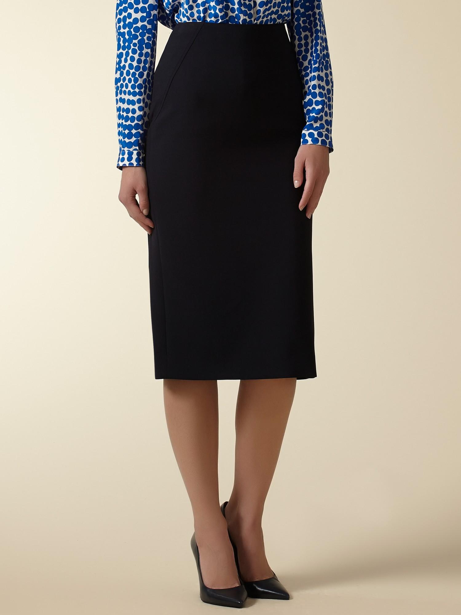 jaeger longline pencil skirt in blue lyst