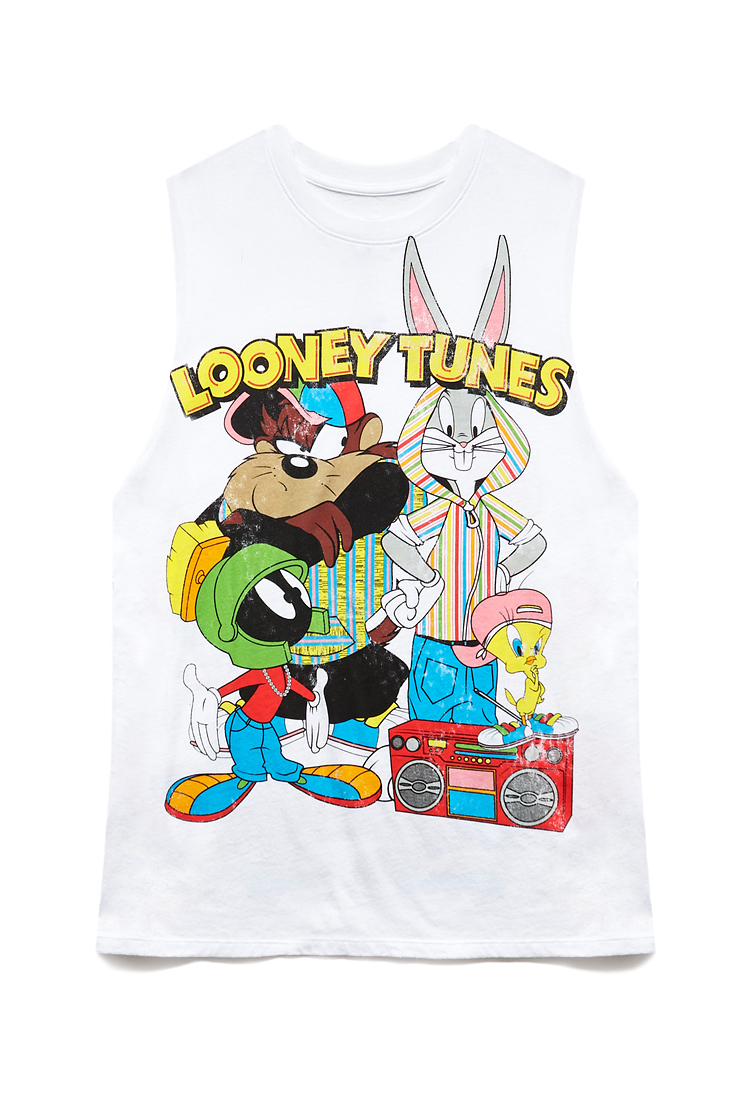 6286b586 Forever 21 Throwback Looney Tunes Muscle Tee in White - Lyst