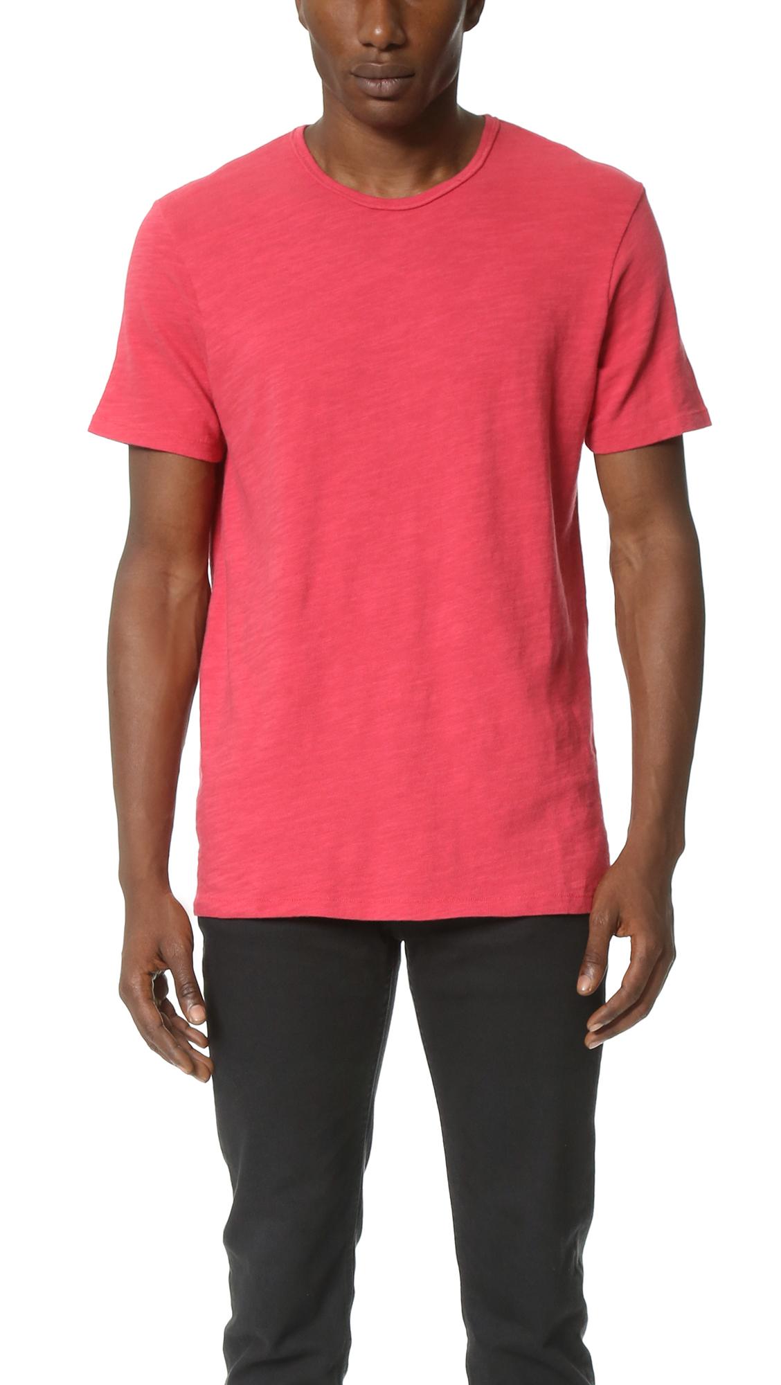 Rag Bone Basic T Shirt In Red For Men Vintage Red