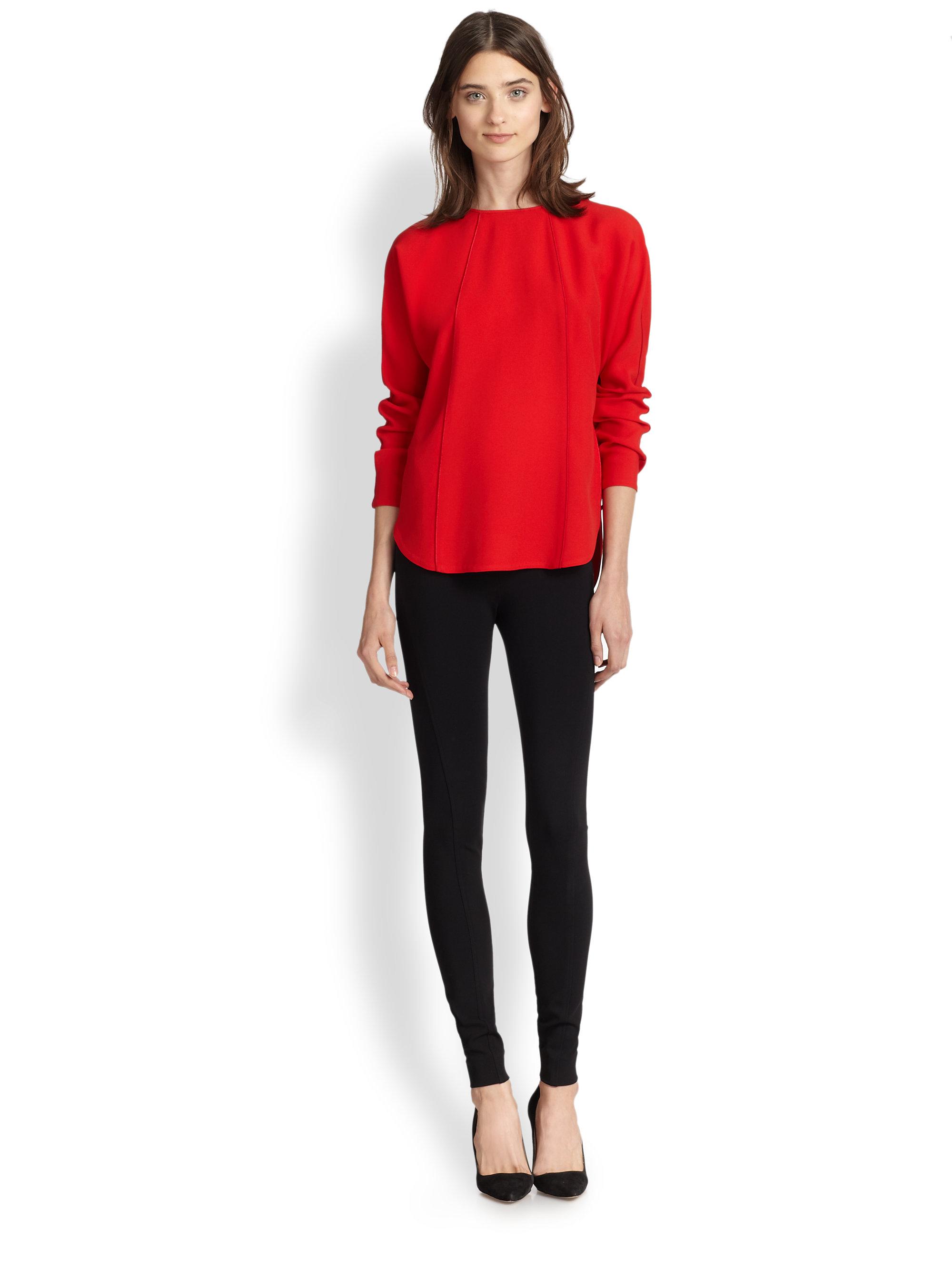 ralph lauren red blouse hot black blouse. Black Bedroom Furniture Sets. Home Design Ideas