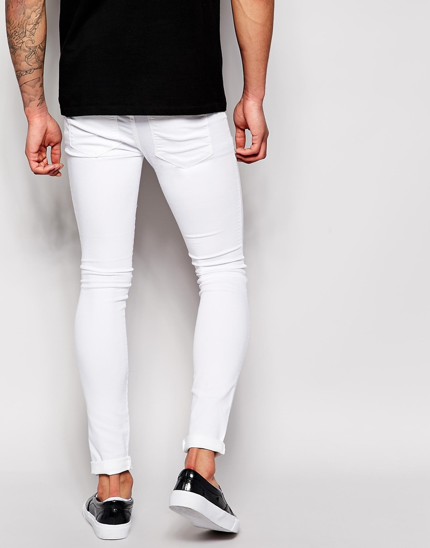 Dr. denim Jeans Kissy Low Spray On Extreme Super Skinny White in ...