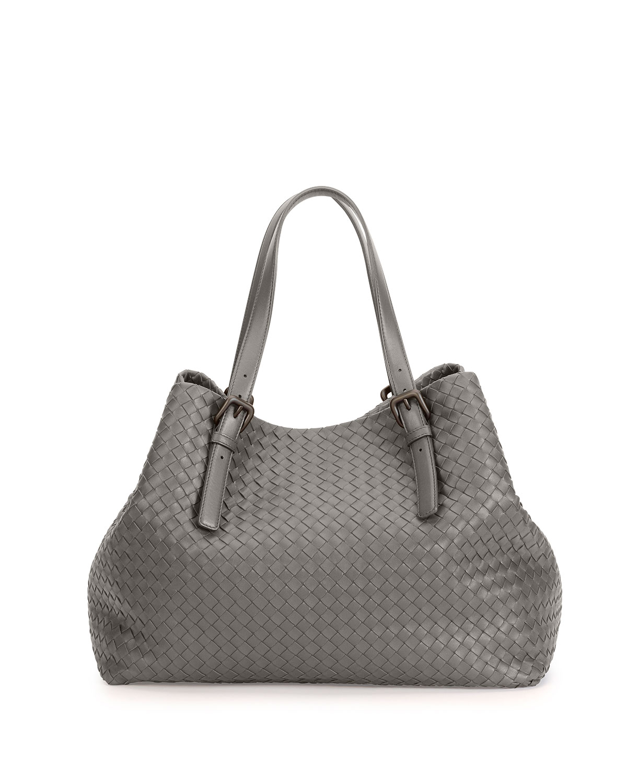 479fabe2f Bottega Veneta Large Double-strap A-shape Tote Bag in Gray - Lyst