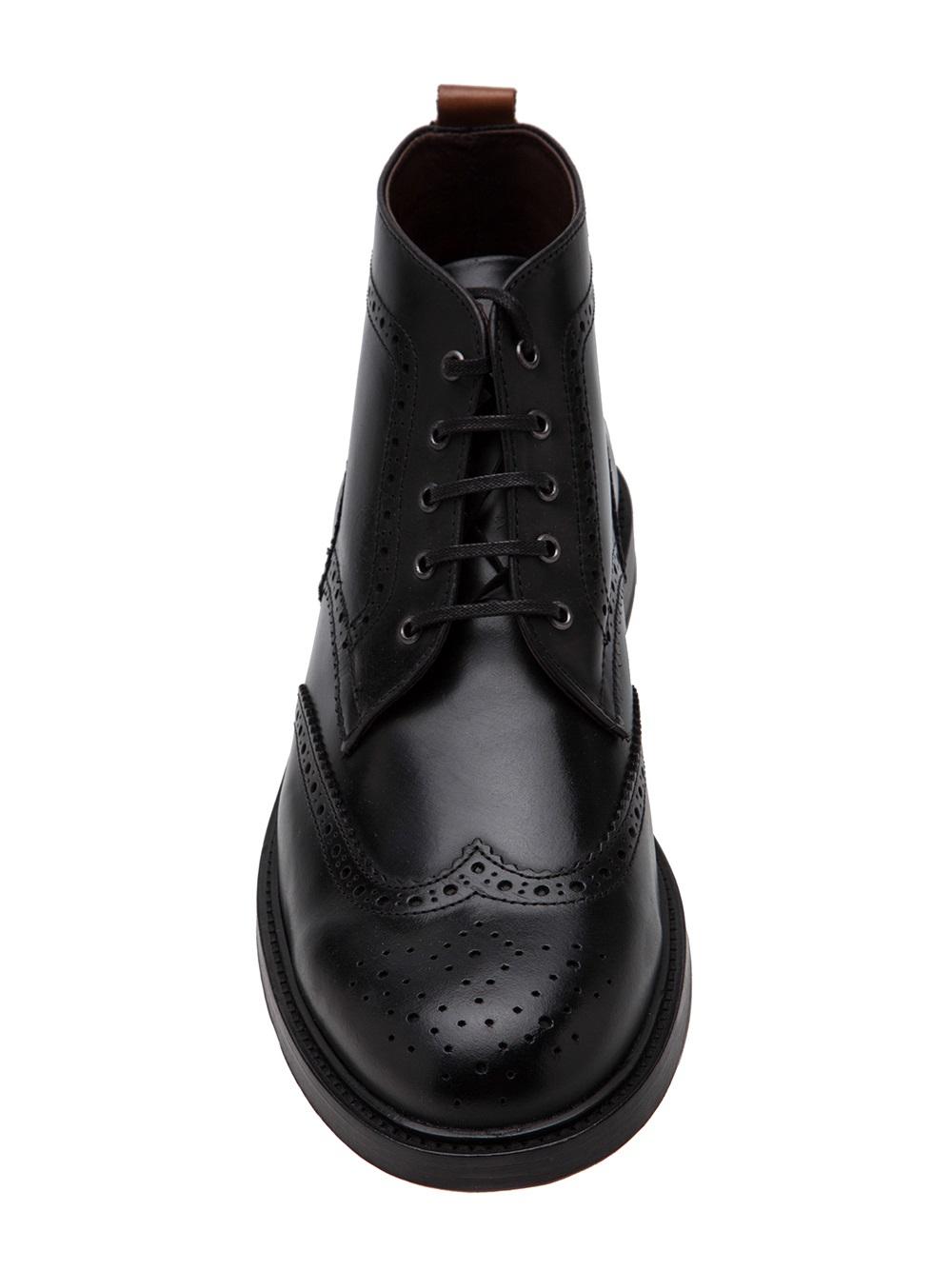 Lyst Royal Republiq Brogue Midcut Boot In Black For Men