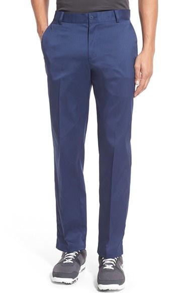 Nike Flat Front Dri Fit Tech Golf Pants In Blue For Men Lyst