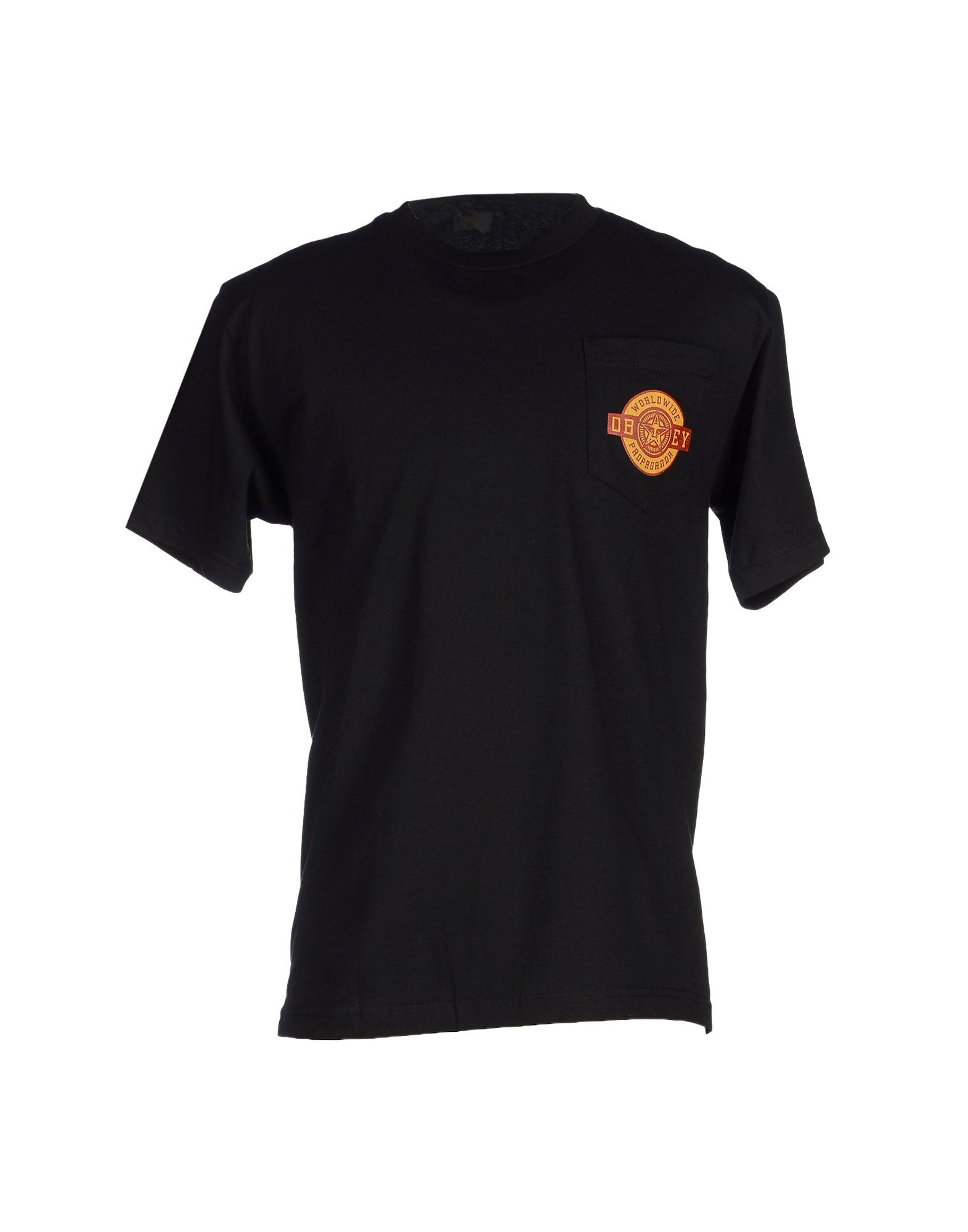 Obey T Shirt In Black For Men Lyst