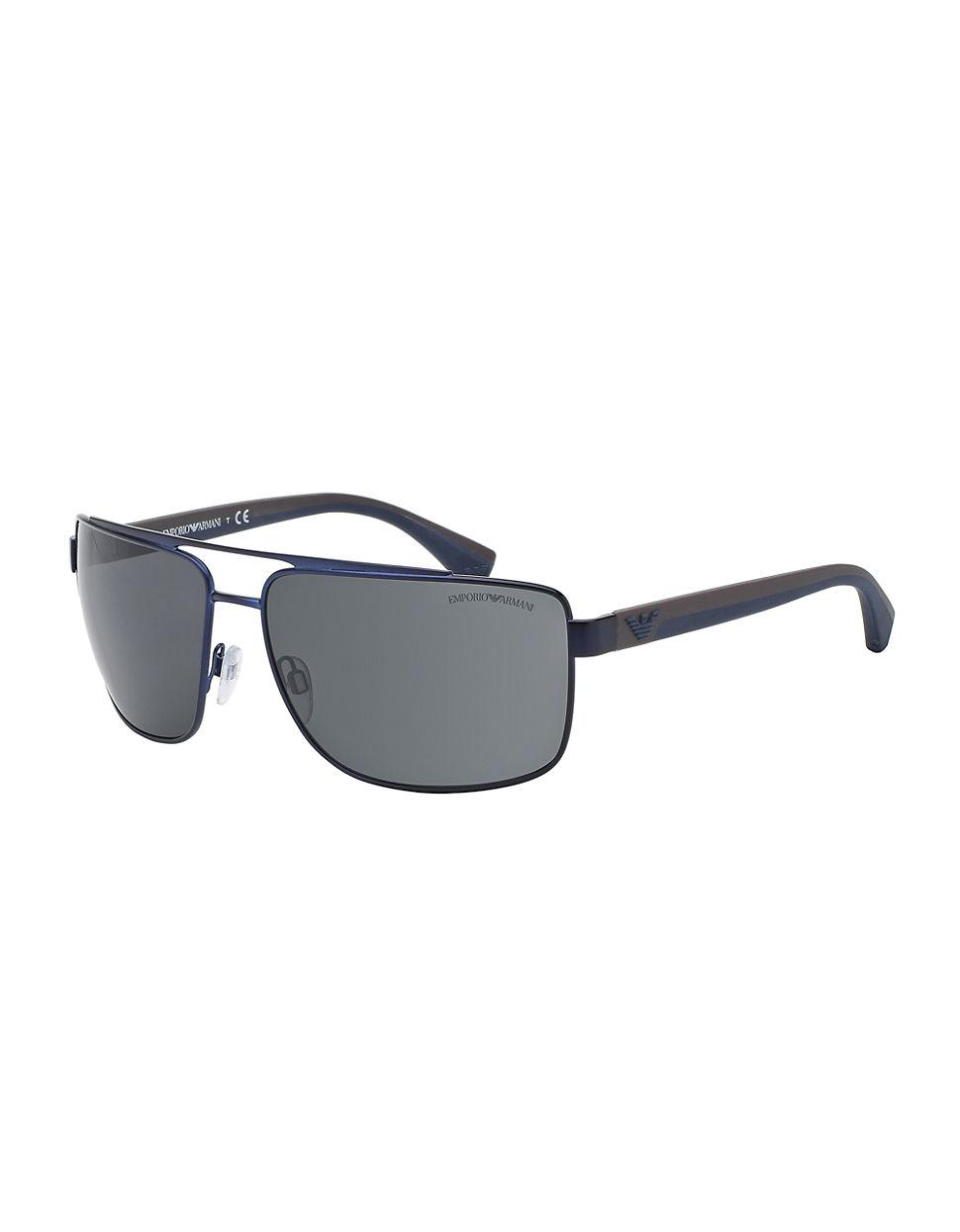 Emporio armani Metal Navigator Sunglasses in Blue for Men ...