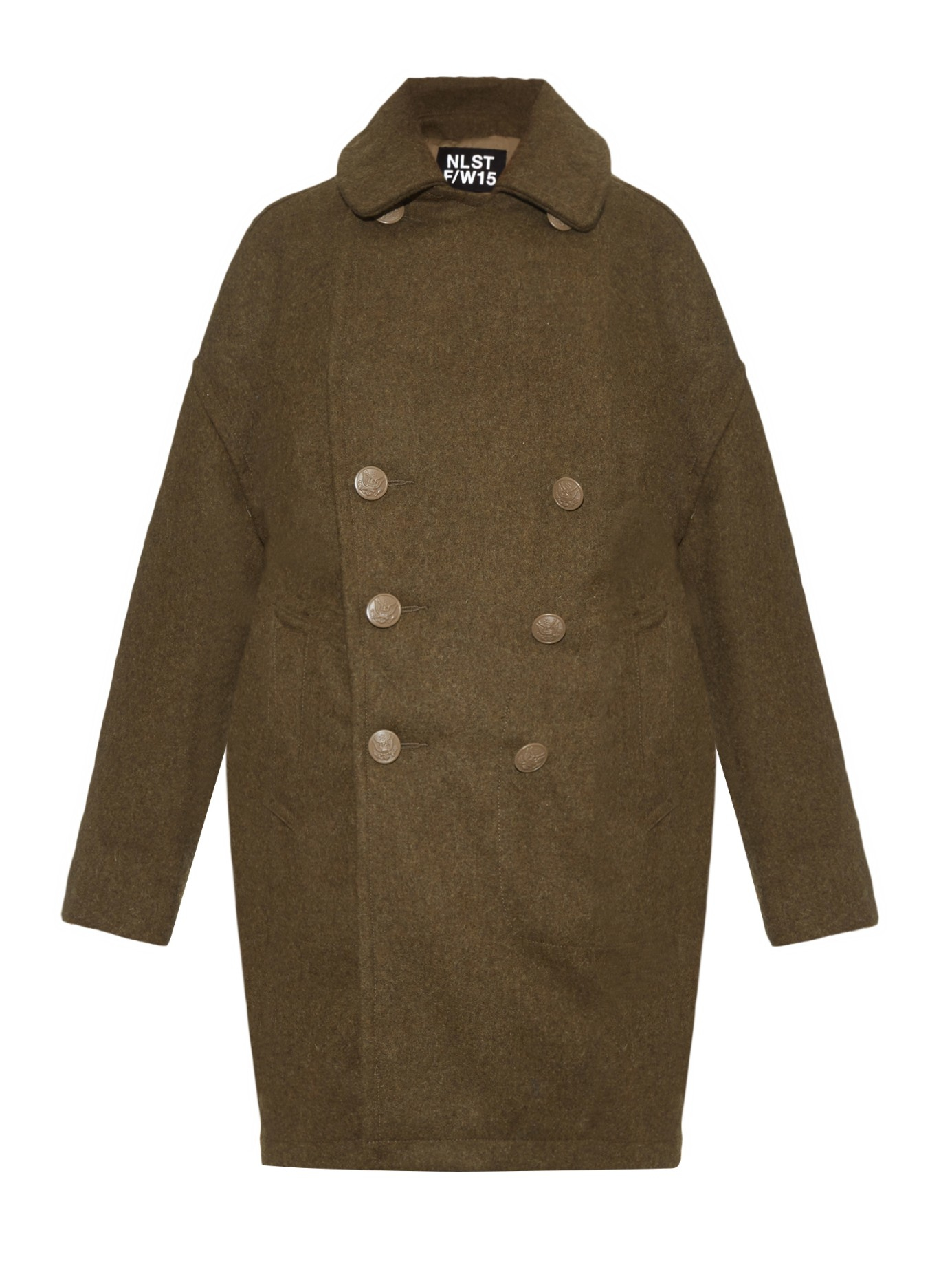Nlst Military Melton-wool Coat in Natural | Lyst