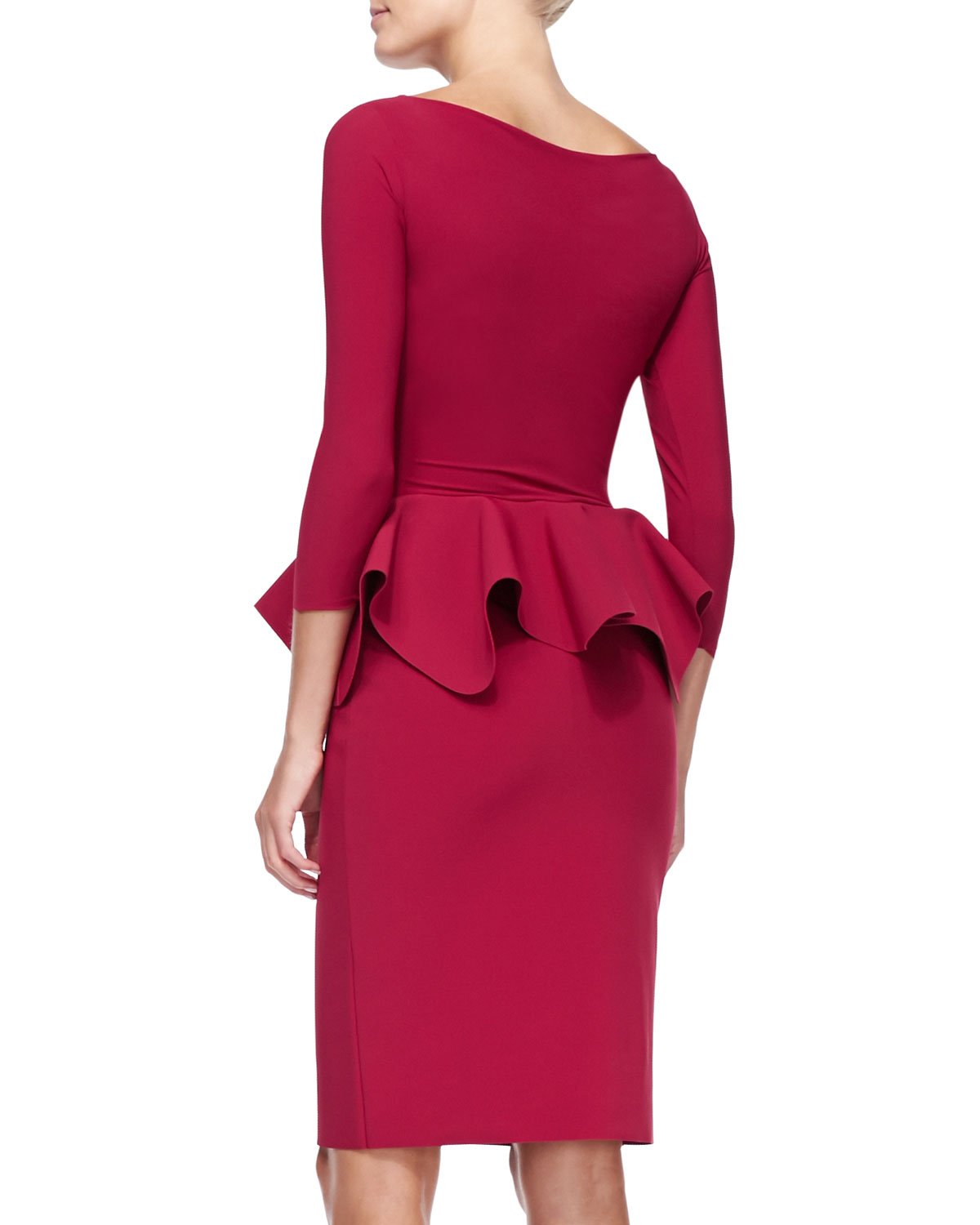 Chiara Boni The Most Popular Dress In America: La Petite Robe Di Chiara Boni Eden 3/4-sleeve Peplum