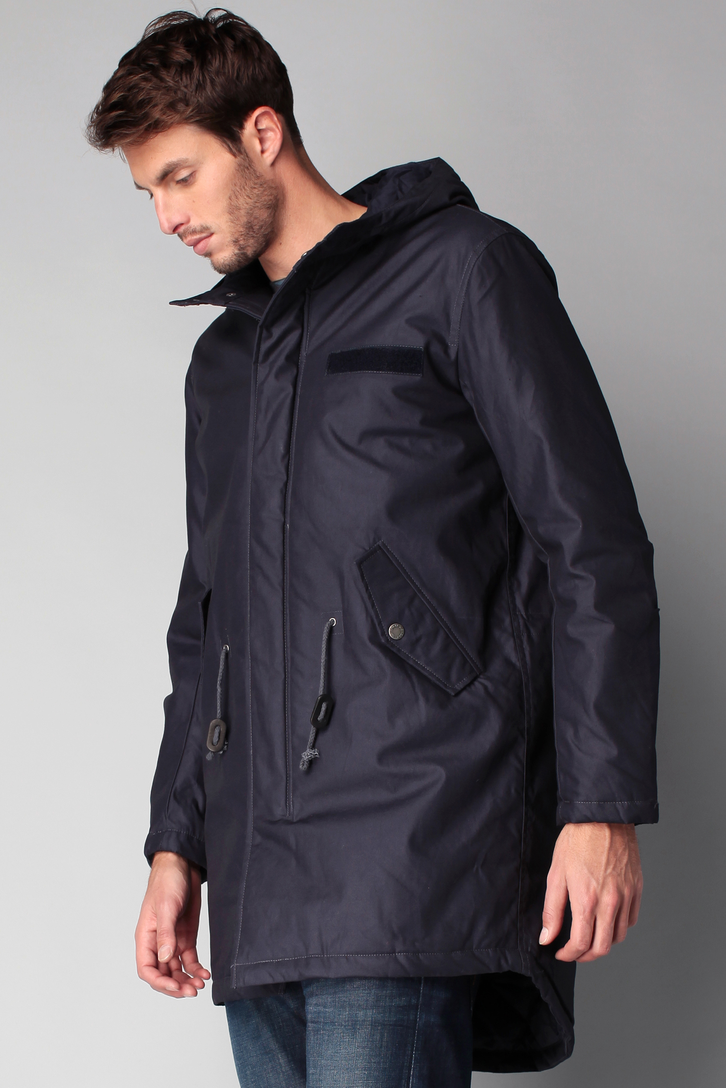 Cheap monday Parka in Blue for Men | Lyst