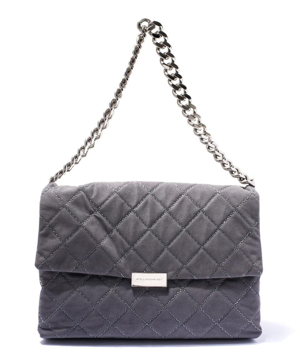 Lyst - Stella McCartney Grey Soft Beckett Quilted Shoulder Bag in Gray ec5d2b0a08eab